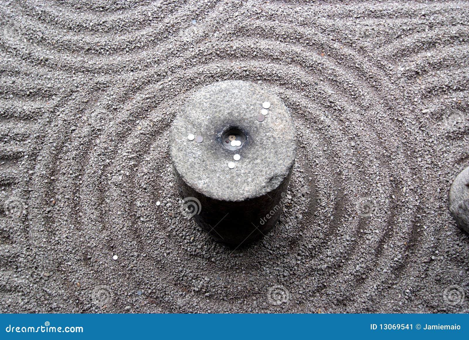 Jardín japonés del zen imagen de archivo. Imagen de meditación ...