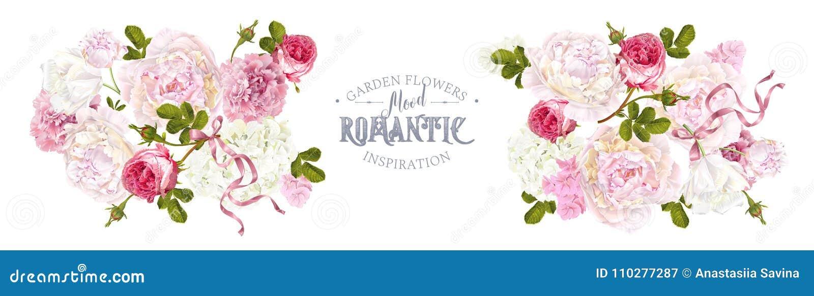 Jardín romántico horizontal