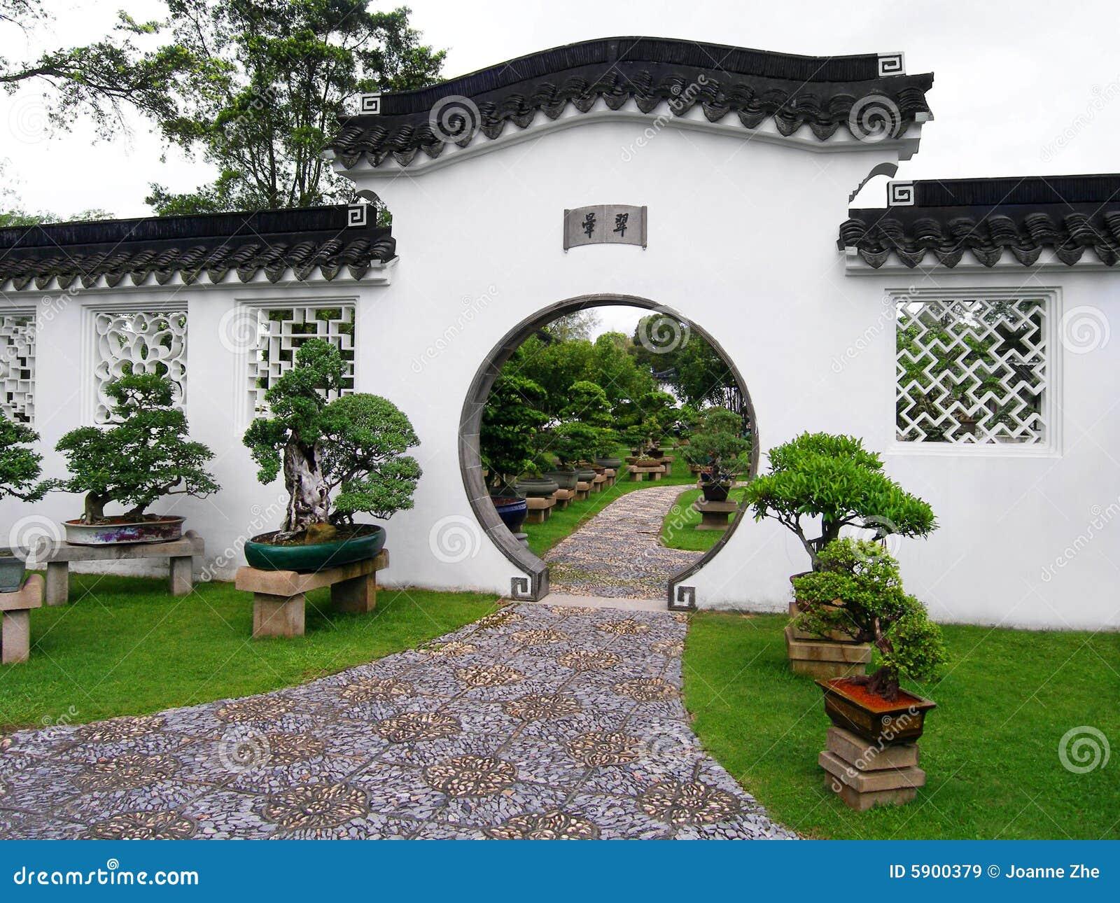 Jardín y bonsais chinos