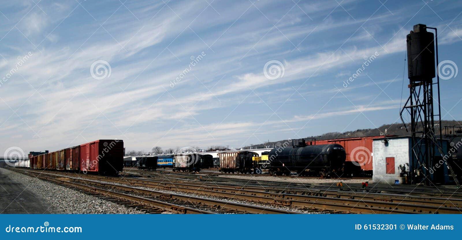 Jarda do frete da estrada de ferro