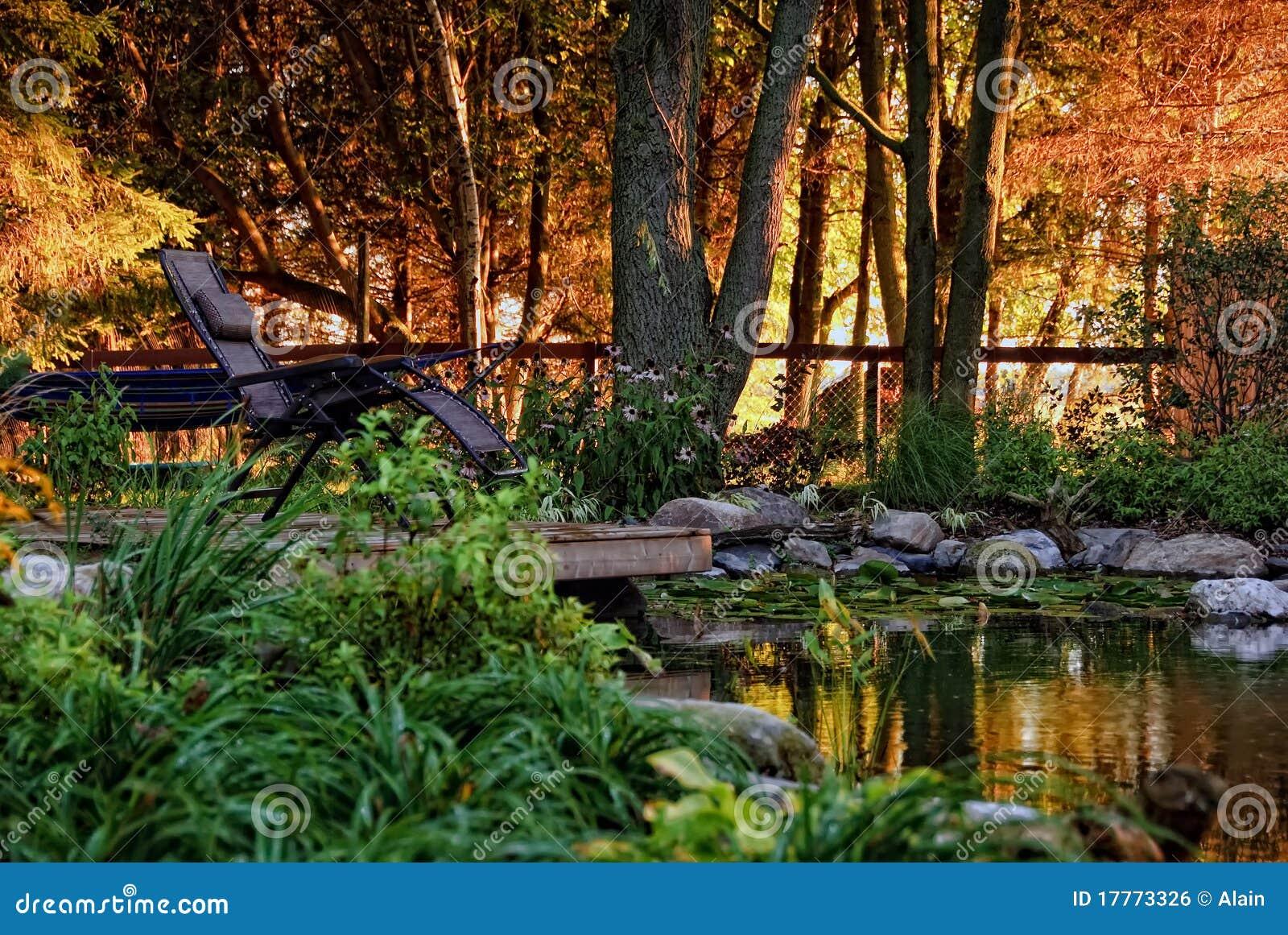 Jardim ajardinado residencial