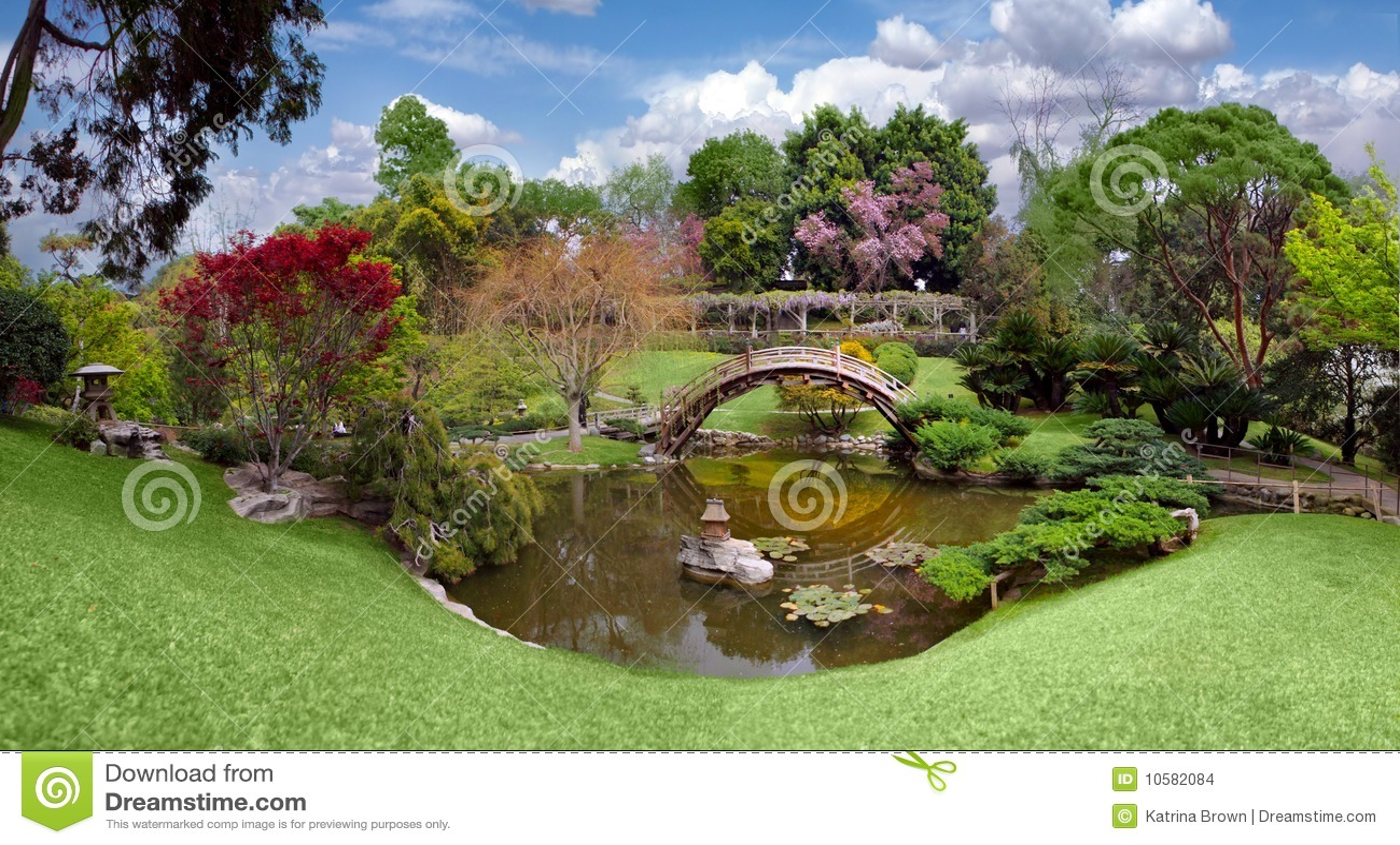 Jardim botânico bonito na biblioteca de Huntington