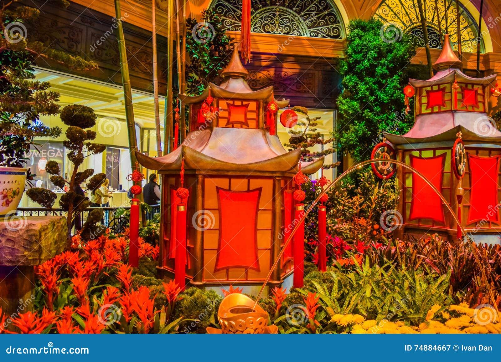 Jardim botânico do hotel de Bellagio