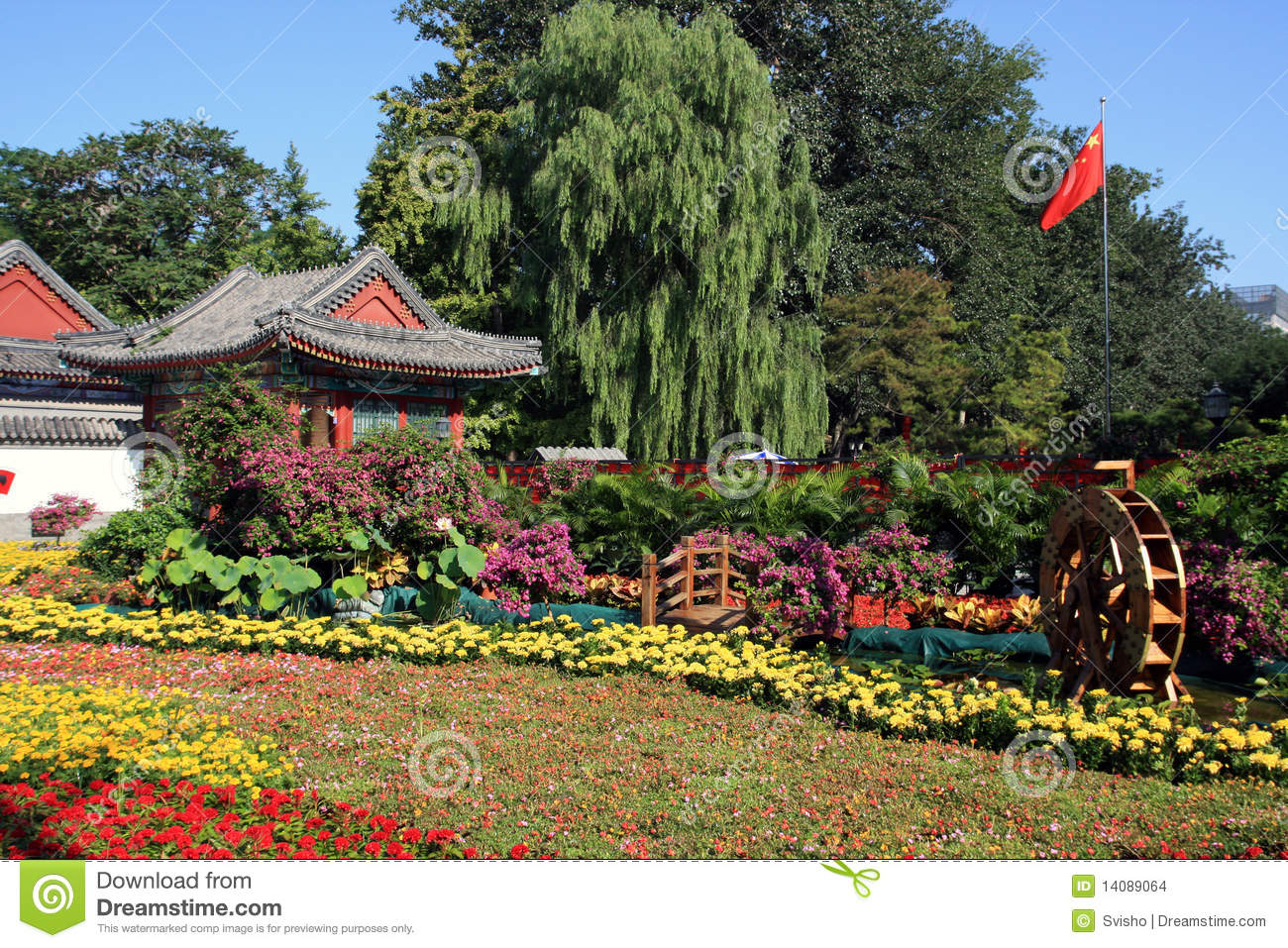 flores coloridas jardim : flores coloridas jardim:Chinese Garden with Flowers