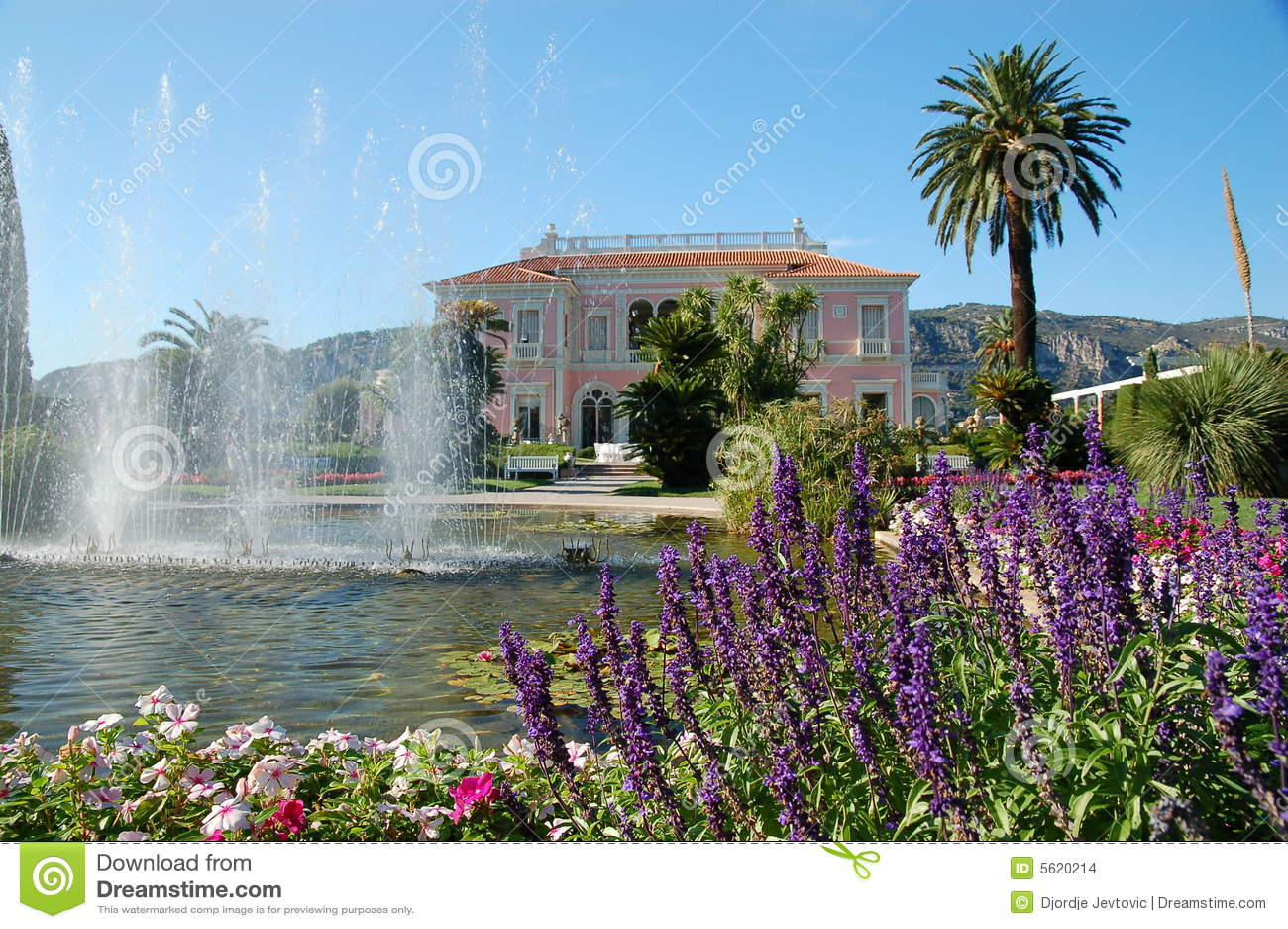 Jardim de Casa de campo Ephrussi de Rotschild