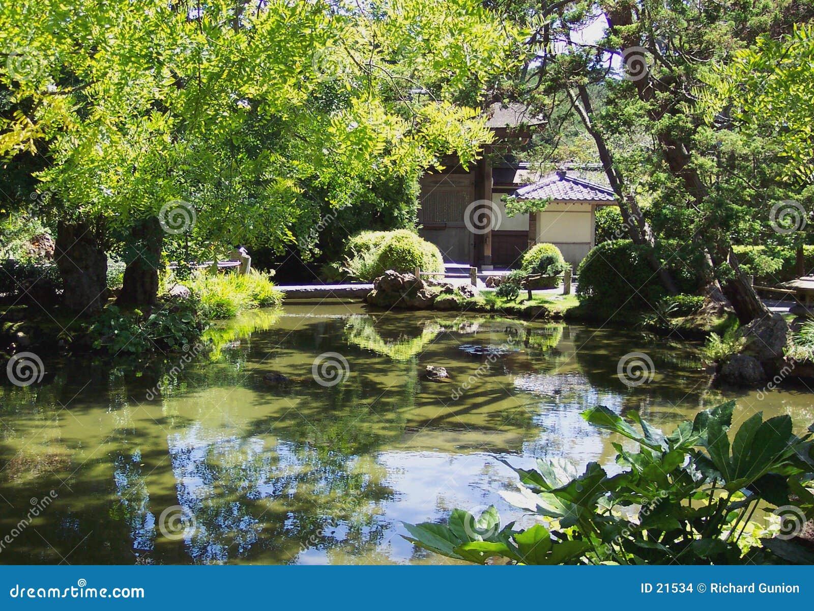 Jardim de chá japonês