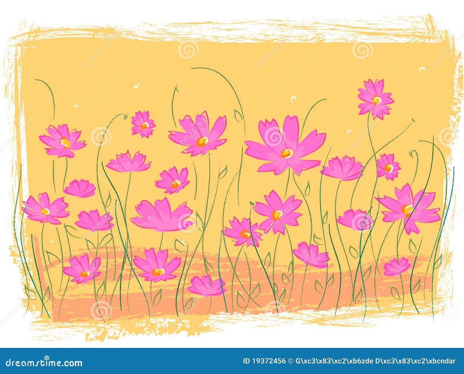 Jardim de flor cor-de-rosa