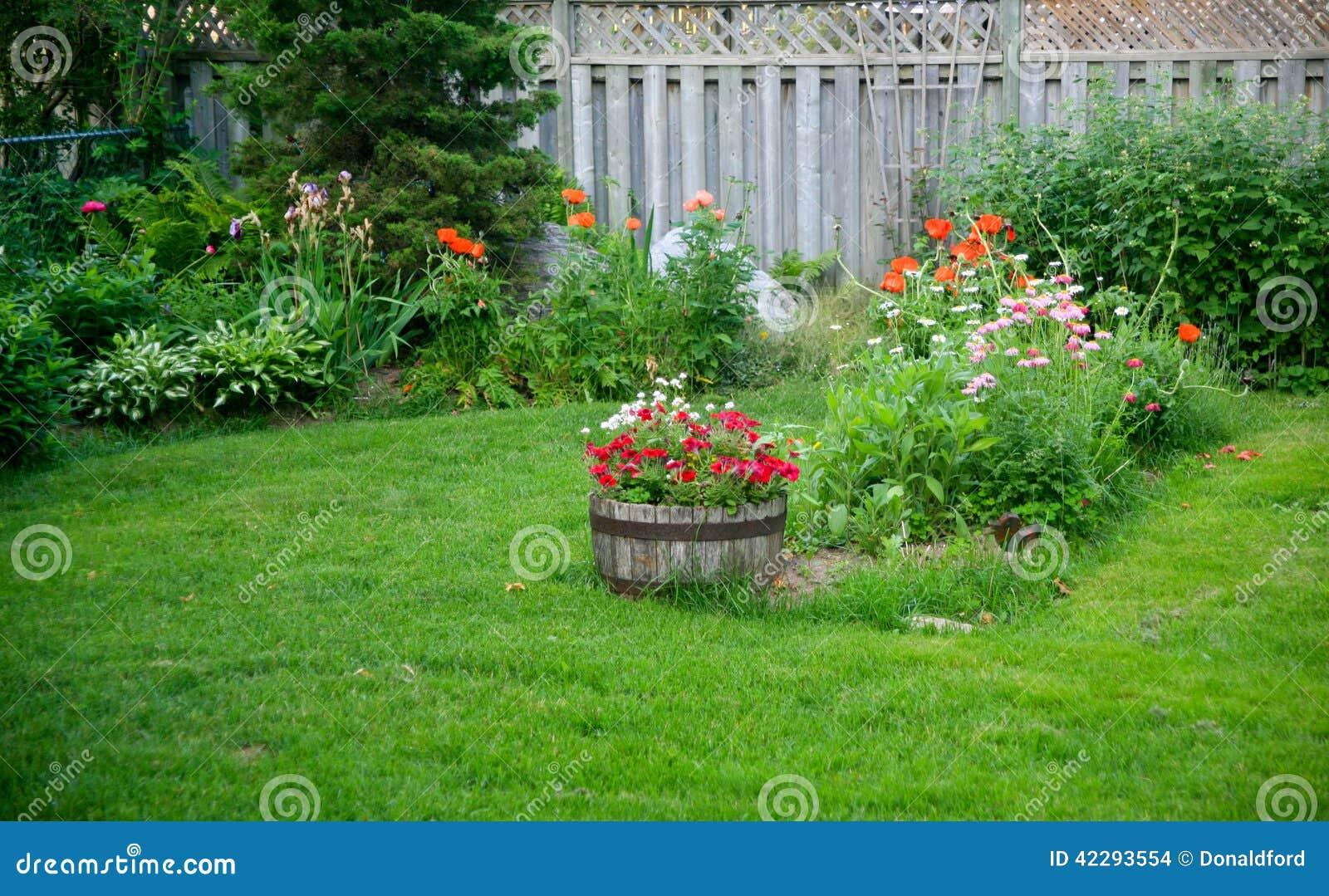 Jardim Do Quintal Foto de Stock - Imagem: 42293554
