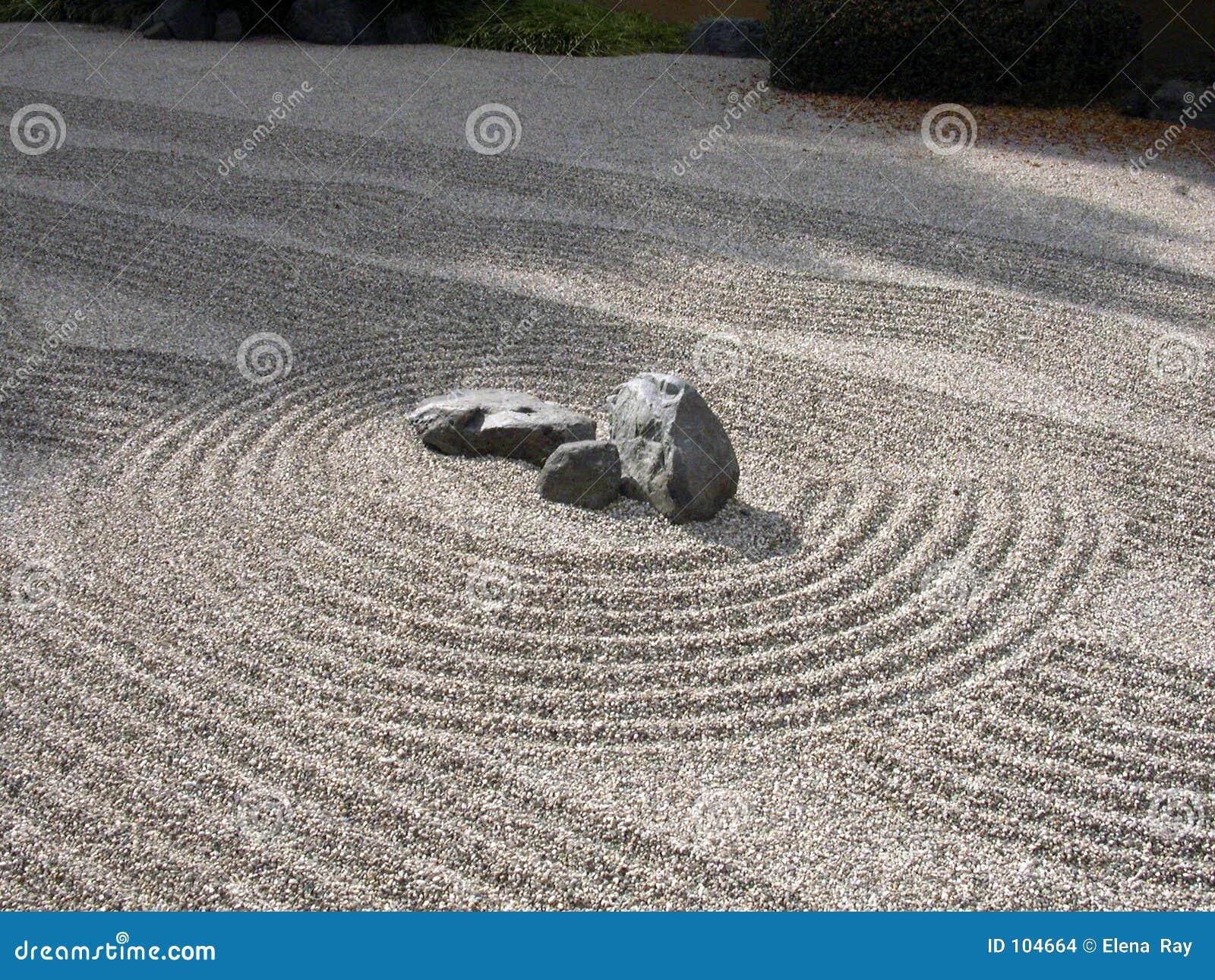 Imagens de Stock Jardim do zen