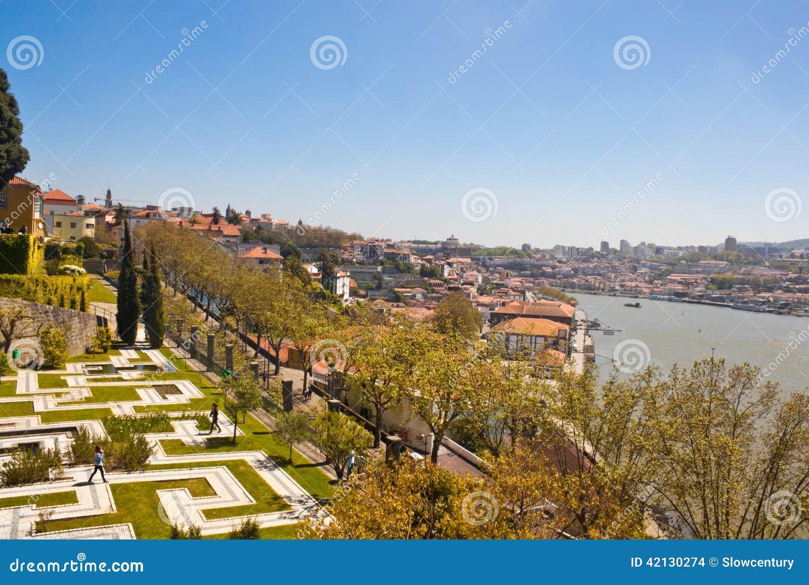 jardim dos sentimentos (garden of feelings) in porto stock photo