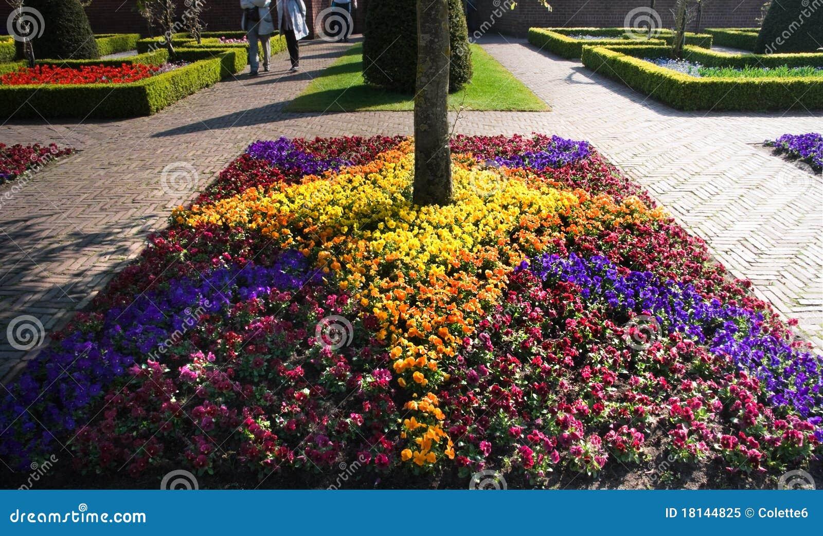 fotos jardim horizontal : fotos jardim horizontal:Jardim formal com arranjo das conversão e das violetas do boxwood na