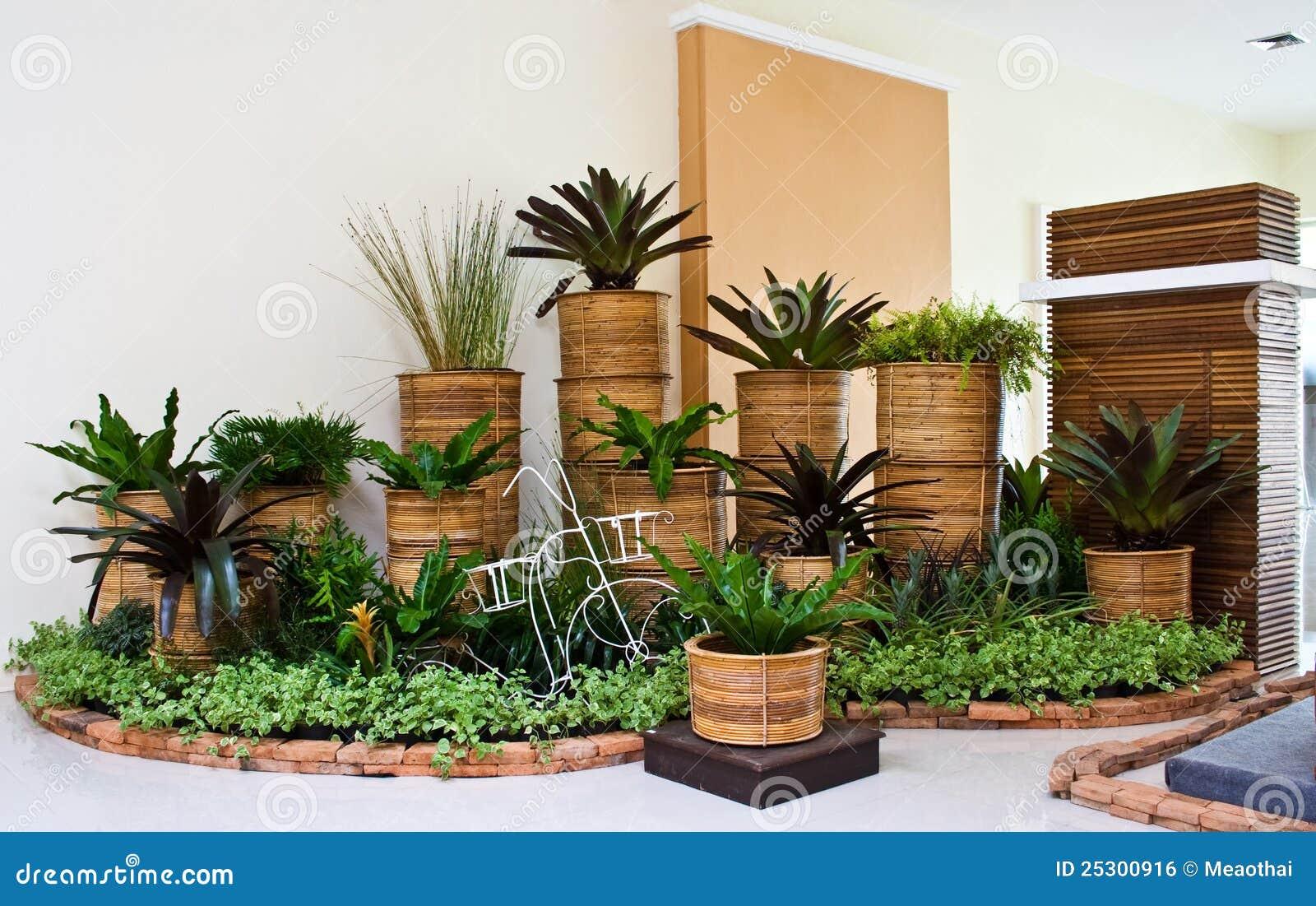 Imagem de Stock Royalty Free Jardim interno para a decoração do