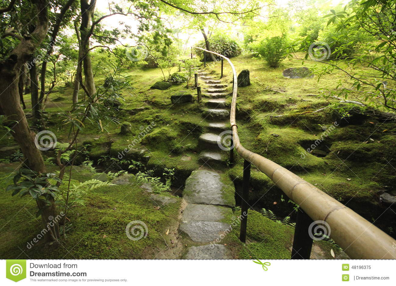 Jardim japonês do zen