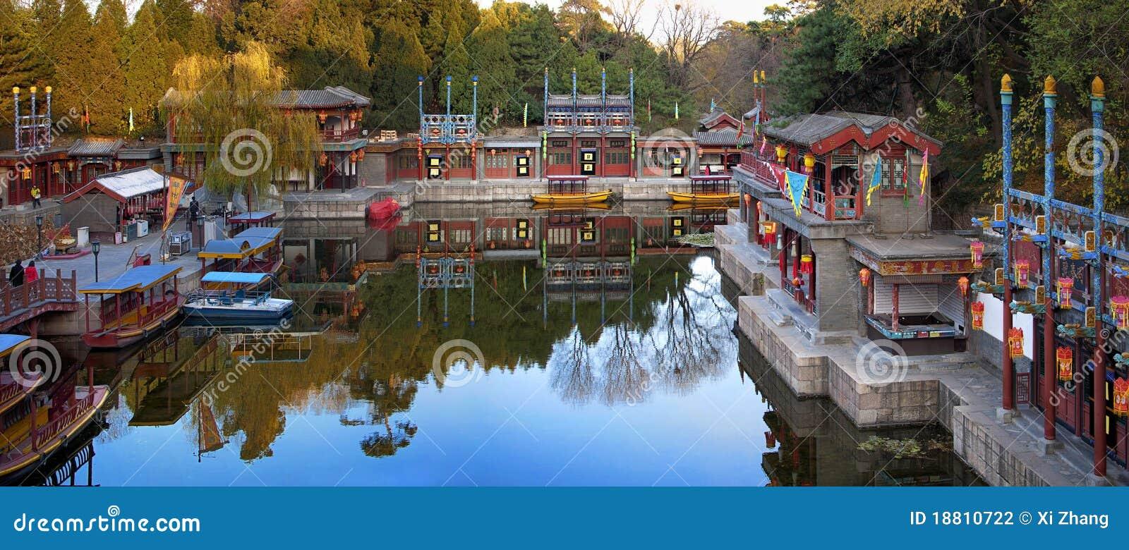 Jardim no palácio de verão de Beijing