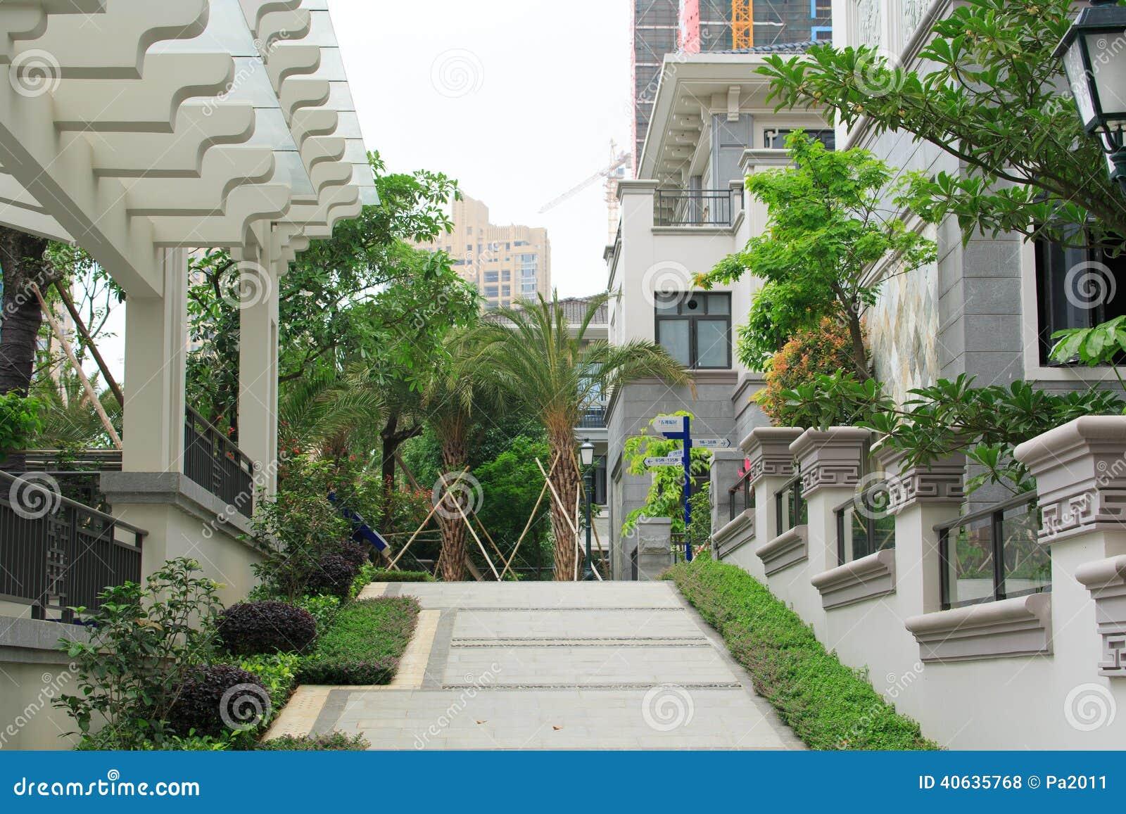 Jardim residencial em China
