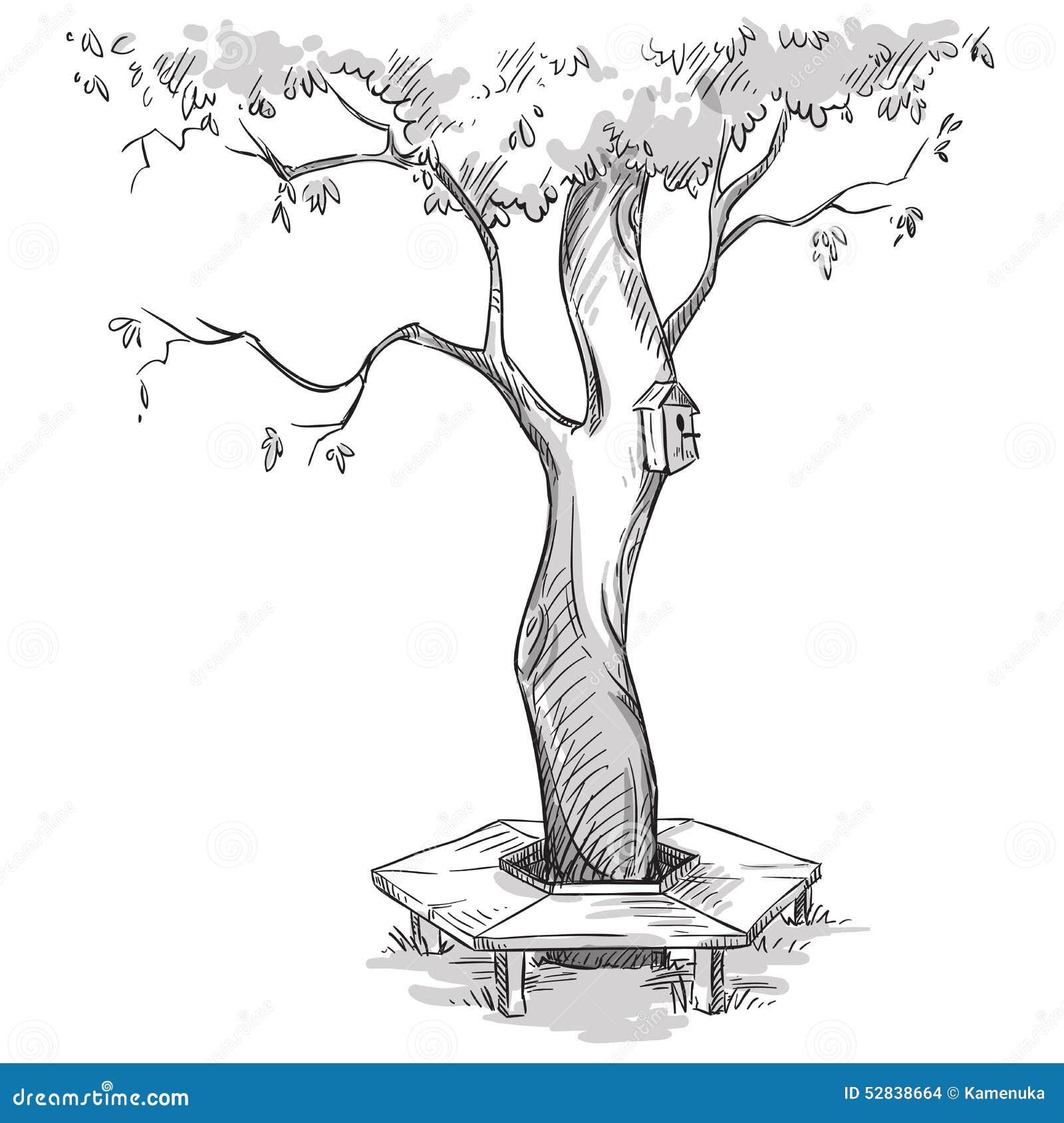 banco de jardim vetor:Mais imagens similares de ` Jardim Árvore e um banco de madeira em