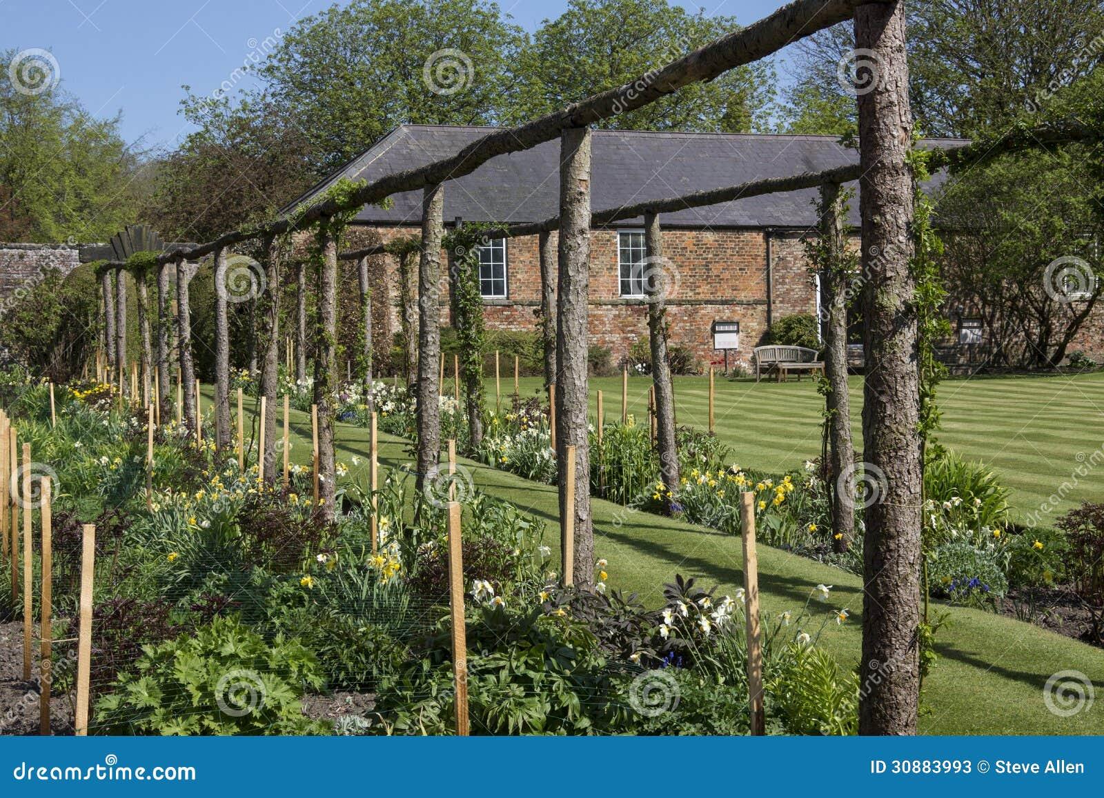 Jardin Anglais De Pays Yorkshire Angleterre Photo