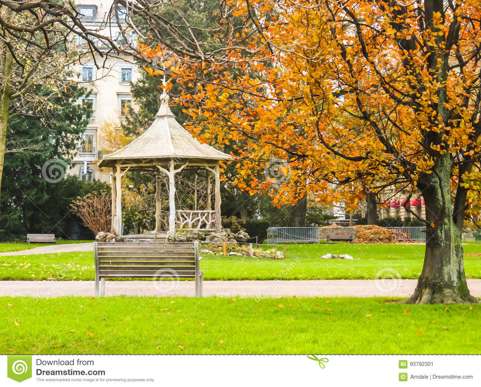 Jardin Anglais Geneva City Switzerland Stock Image Image Of Park