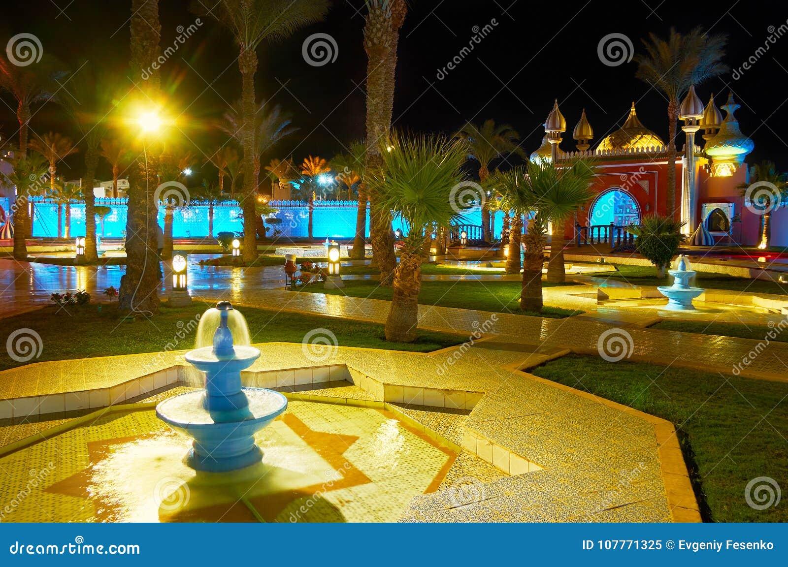 Jardin Arabe De Style Sharm El Sheikh Egypte Image Editorial - Jardin-arabe