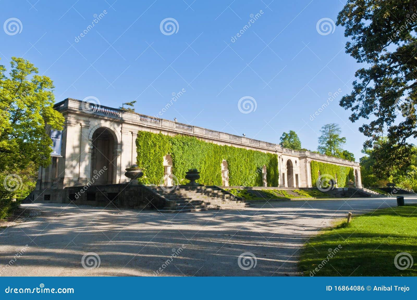 Jardin botanique at bordeaux france royalty free stock for Jardin botanique bordeaux