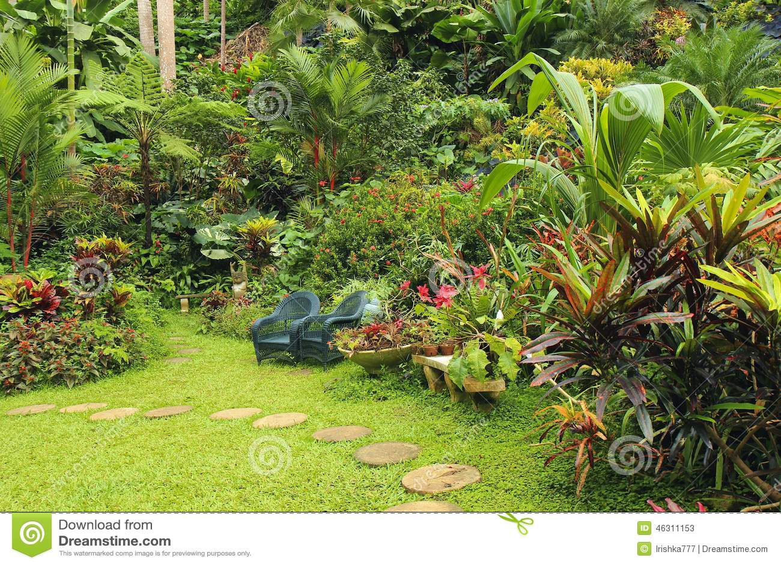Jardin botanique en barbade des cara bes photo stock for Jardin botanique de conception