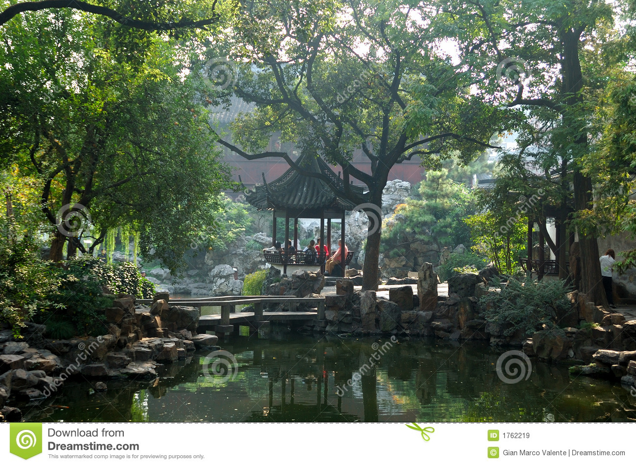 Jardin chinois images libres de droits image 1762219 for Conception jardin chinois