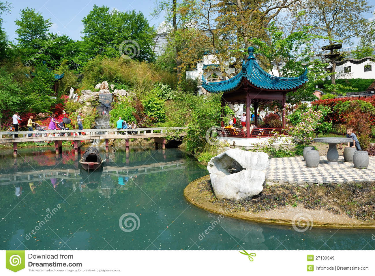 Jardin chinois image stock ditorial image 27189349 for Jardin chinois