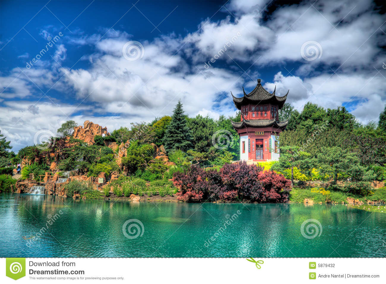 Jardin chinois photographie stock image 5879432 for Jardin chinois yvelines