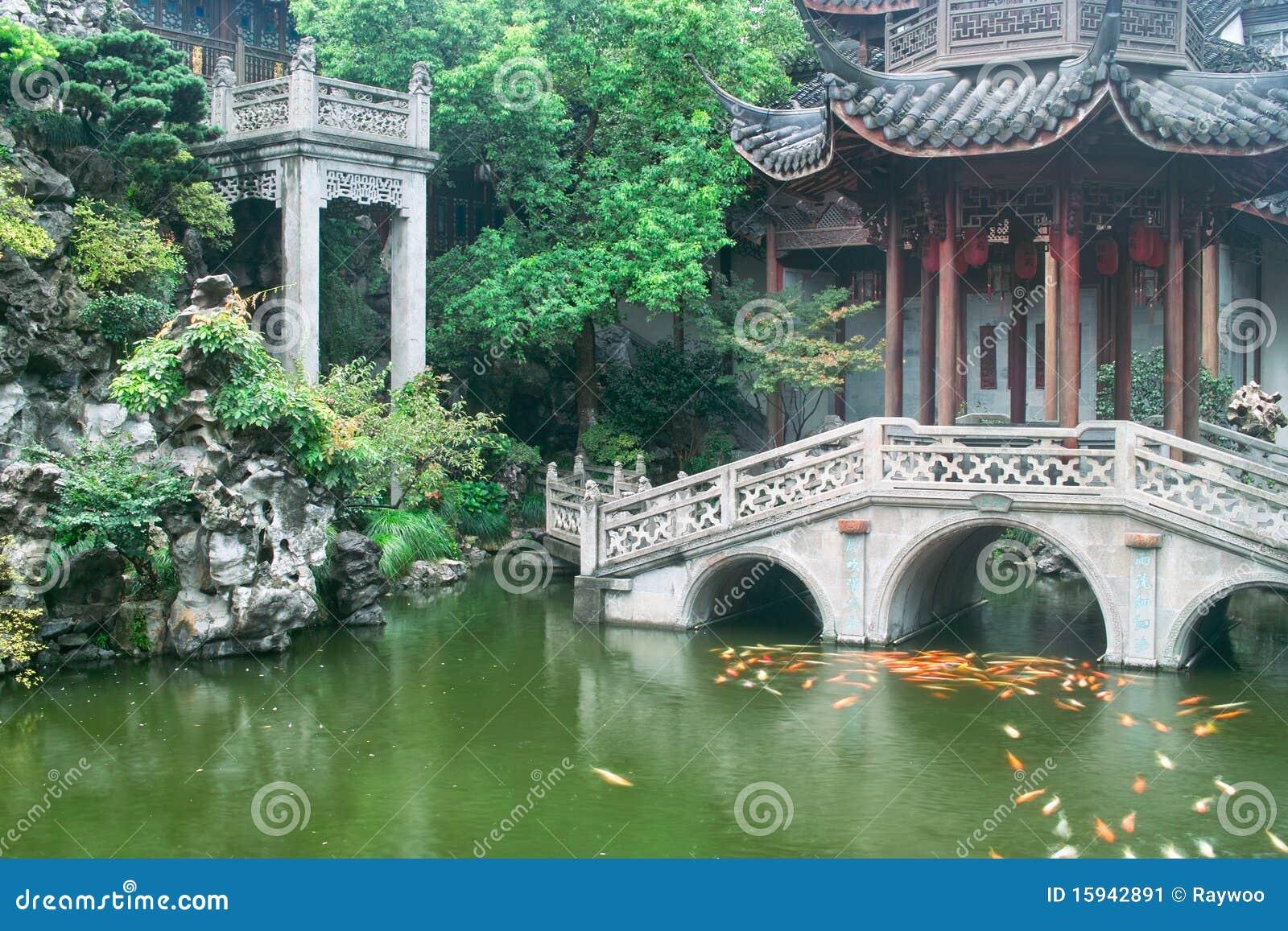 jardin chinois de type traditionnel image stock image du brique jardin 15942891. Black Bedroom Furniture Sets. Home Design Ideas