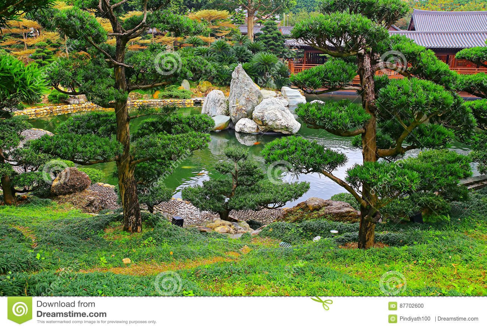Jardin chinois de zen