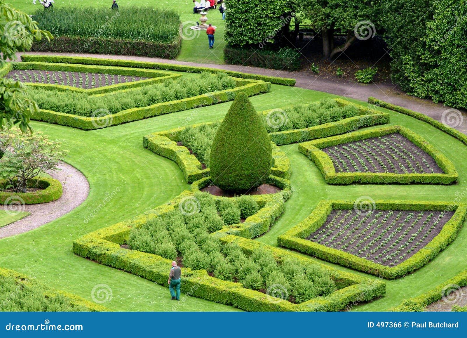 jardin d 39 agr ment ecosse photo stock image du t antique 497366. Black Bedroom Furniture Sets. Home Design Ideas