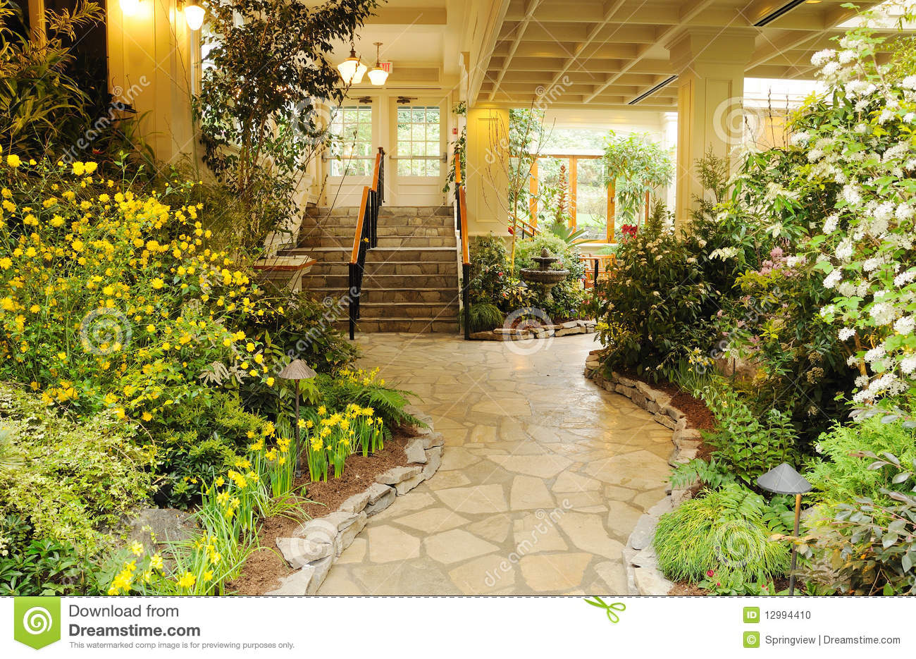 Jardin d 39 int rieur photo stock image 12994410 for Photo d interieur