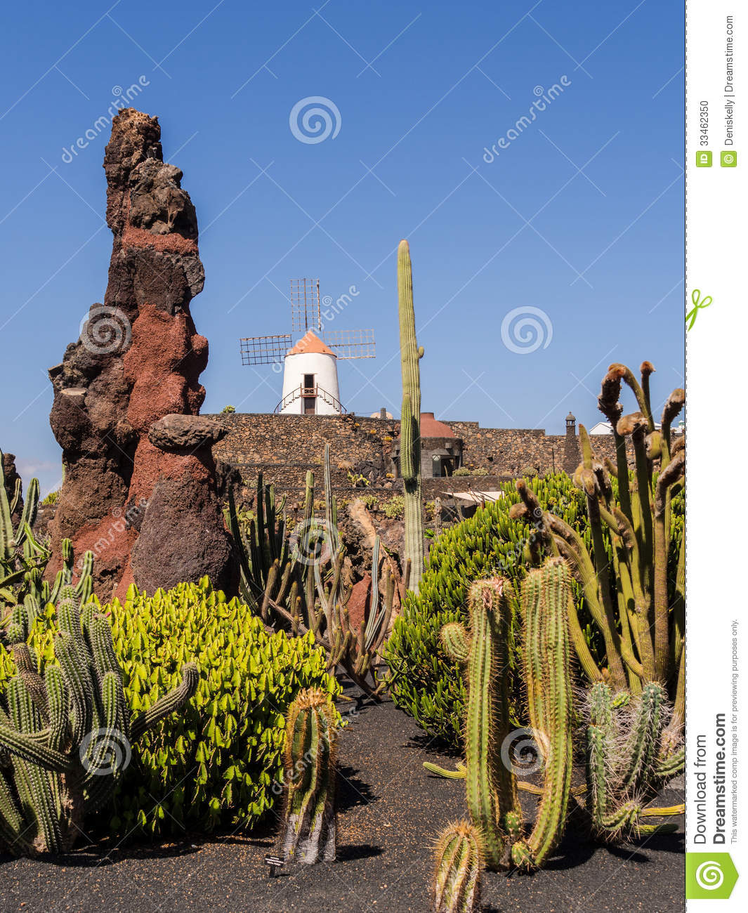 Jardin de cactus lanzarote les canaries photo stock for Jardin de cactus lanzarote