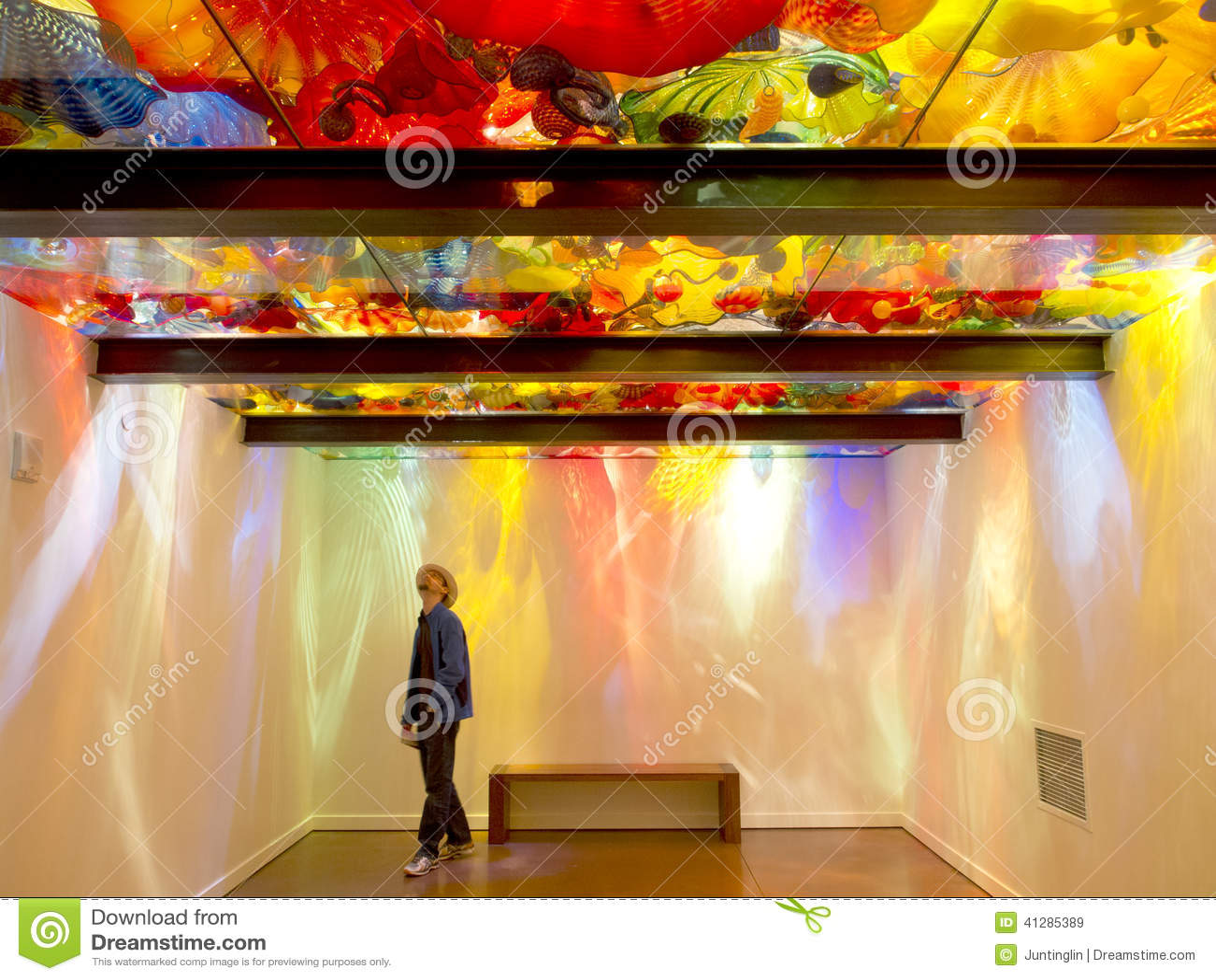 Jardin de Chihuli et musée en verre à Seattle - plafond persan
