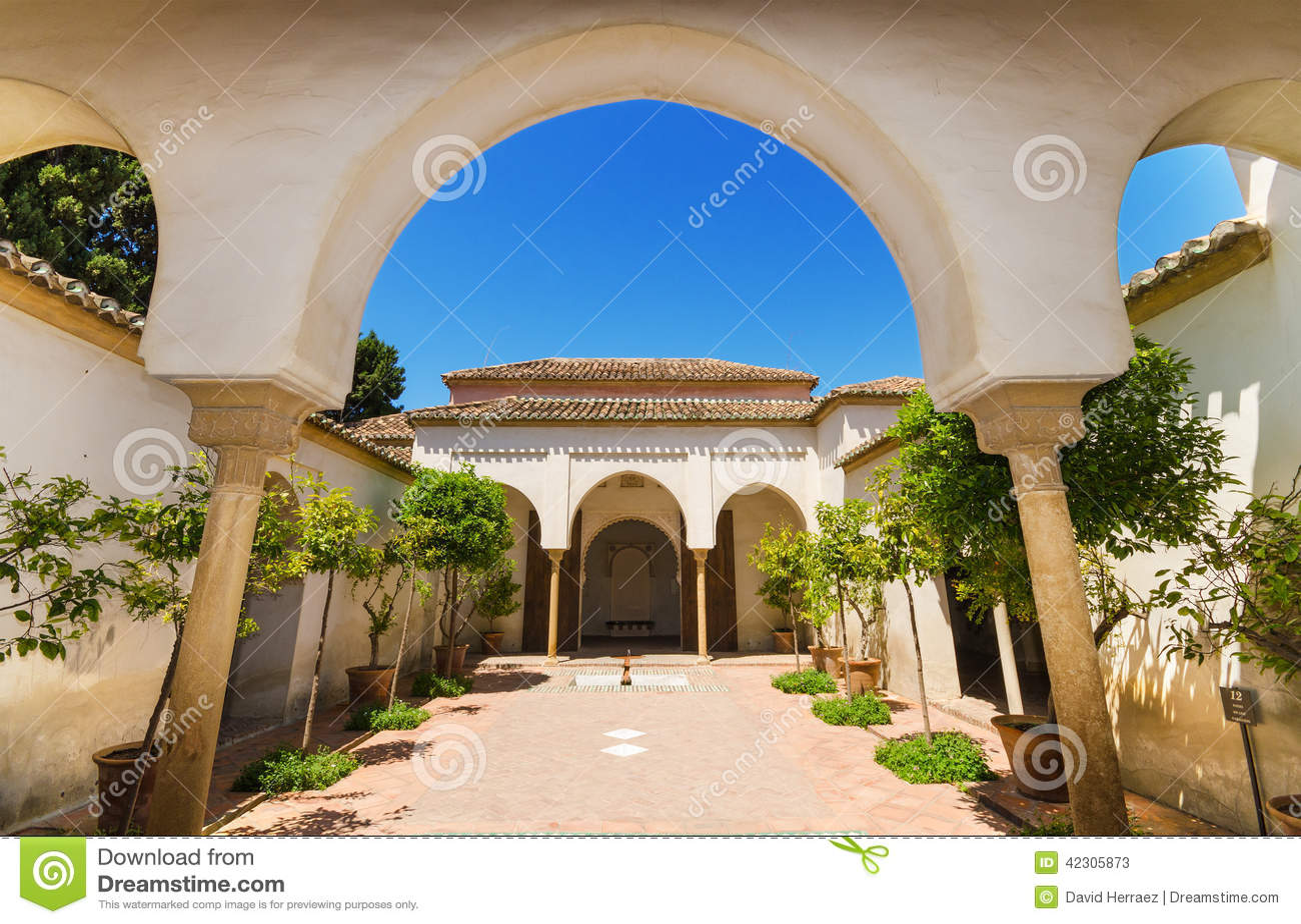 Jardin de cour dans le palais d 39 alcazaba malaga for Jardin cour