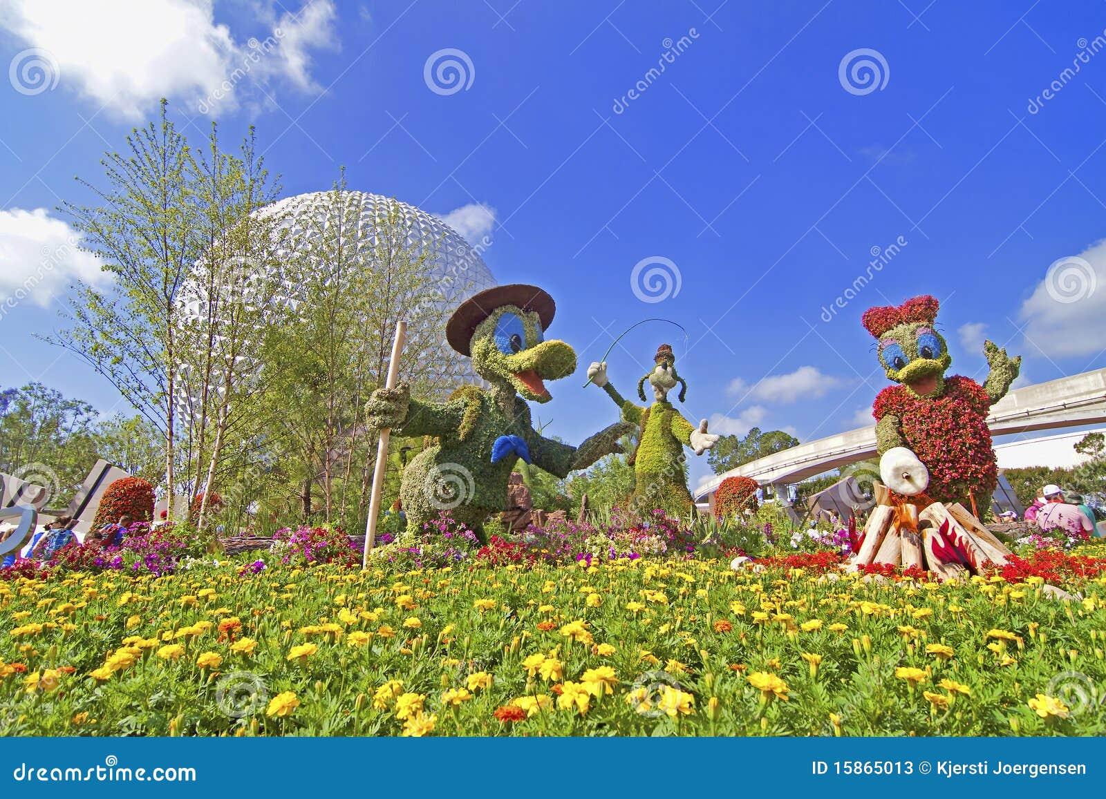 Jardin de disney photo stock ditorial image 15865013 for Jardin walt disney