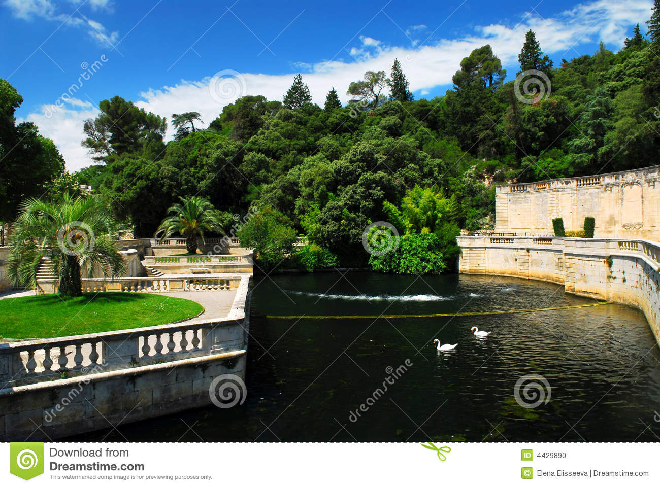 Jardin de la fontaine in nimes france stock photo image for Jardin je france