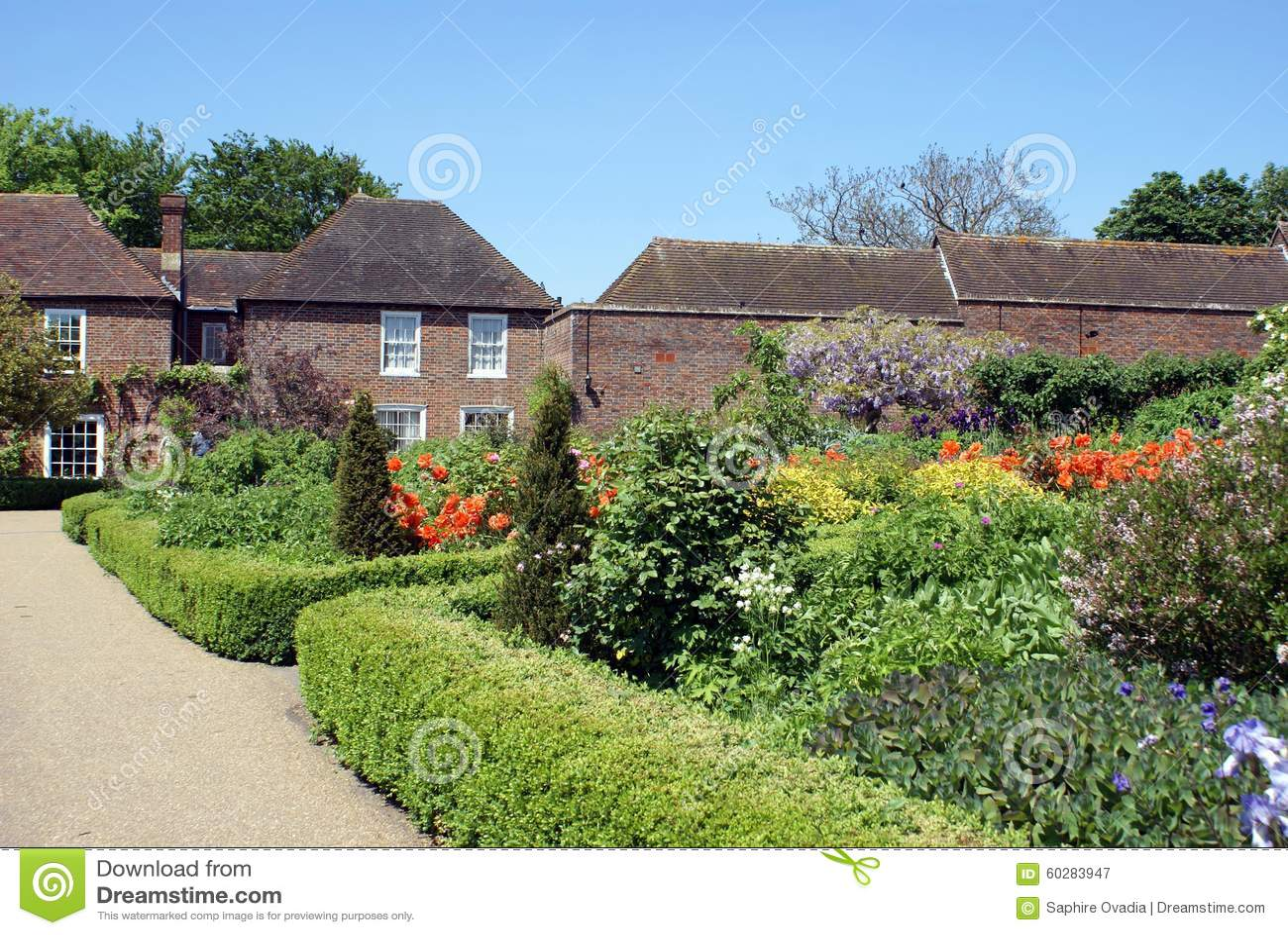 Jardin de leeds castle en angleterre photo stock image for Jardin anglais en angleterre