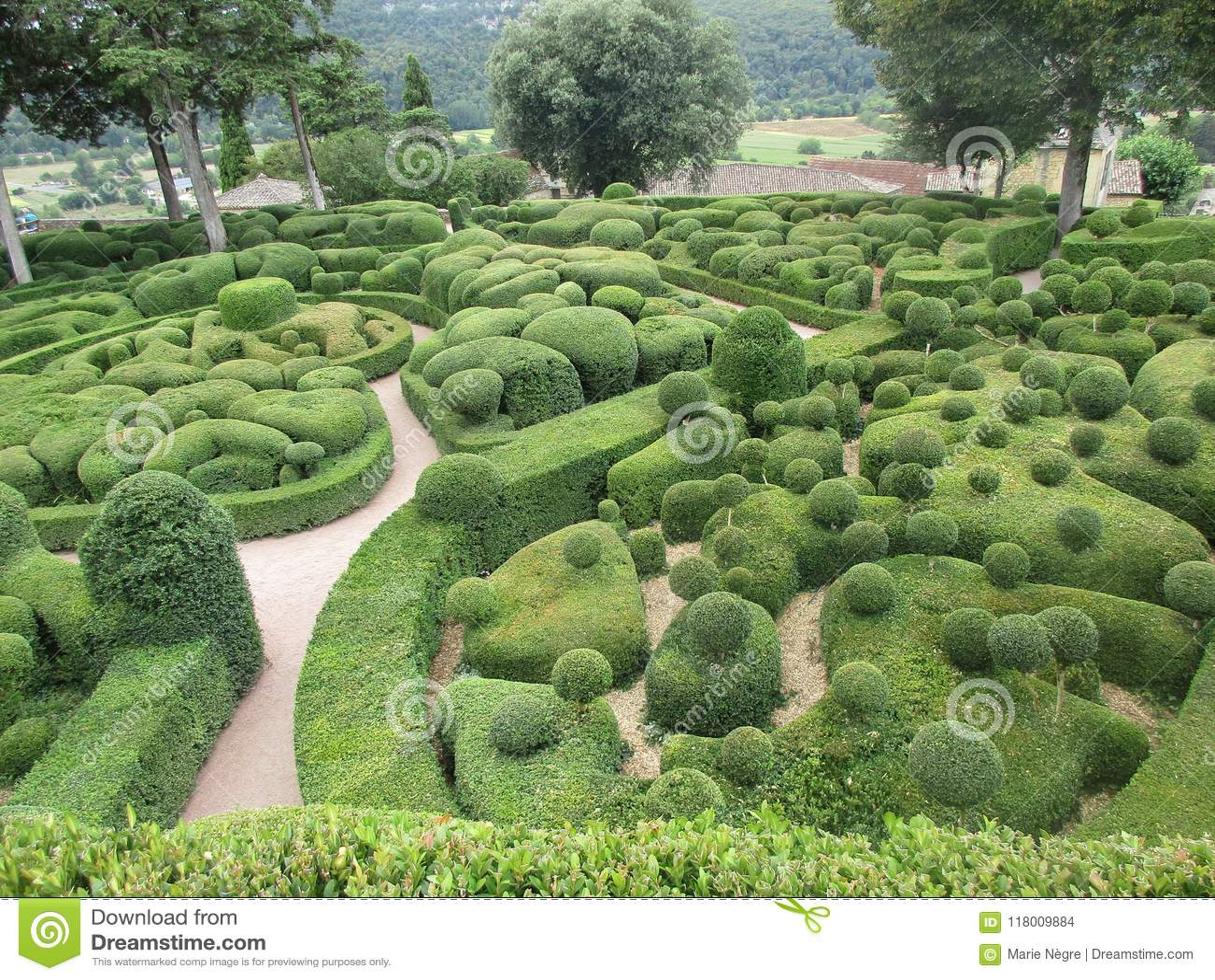 Garden Of Marqueyssac Dordogne Stock Photo Image Of