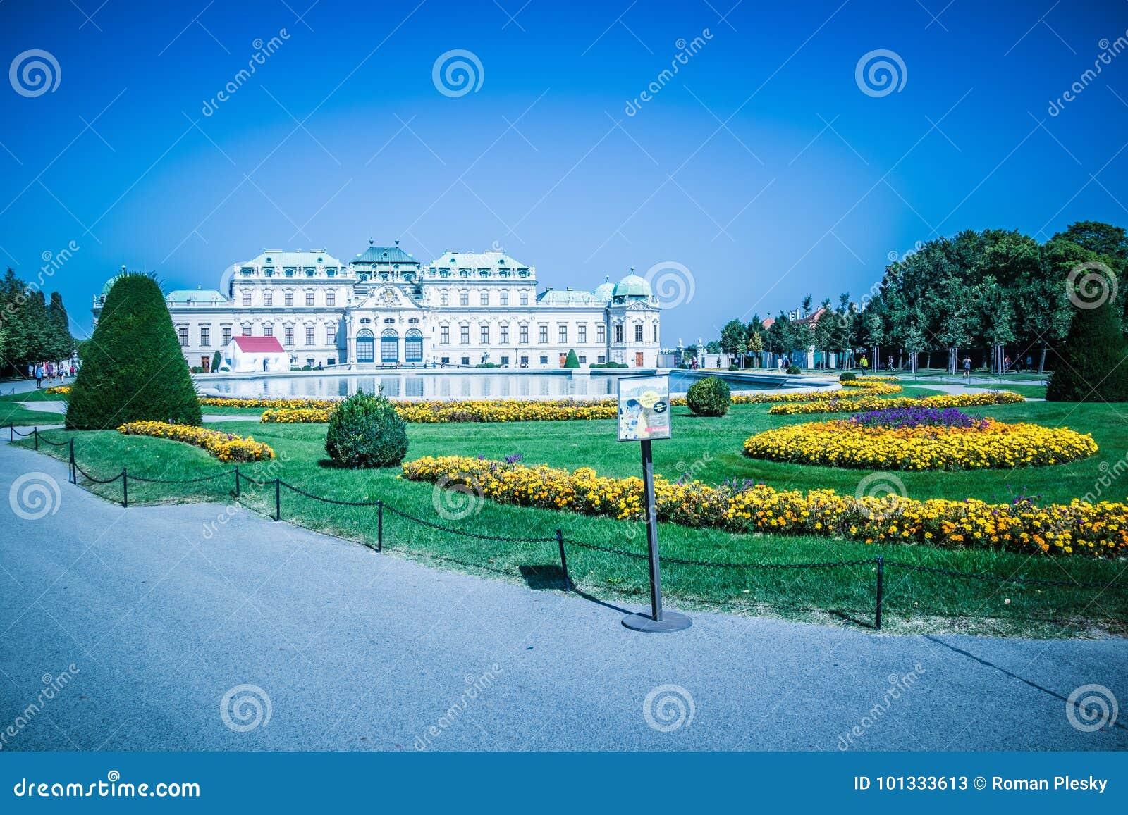 Jardin de palais de belvédère à Vienne, Autriche