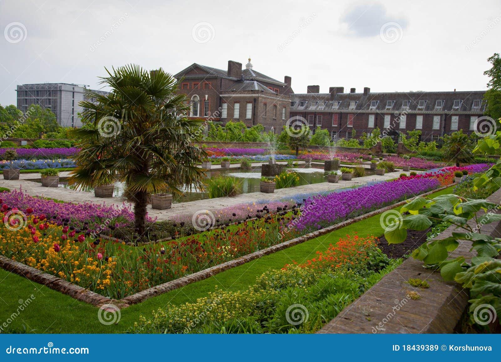 Jardin de palais de kensington londres image stock for Jardines de kensington