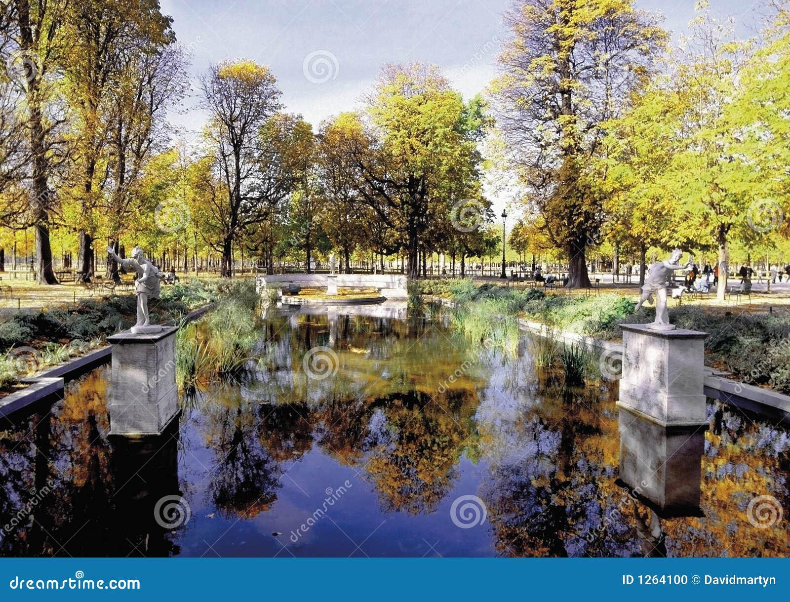 Jardin DES Tuileries Paris Frankreich Stockfoto - Bild von gärten ...
