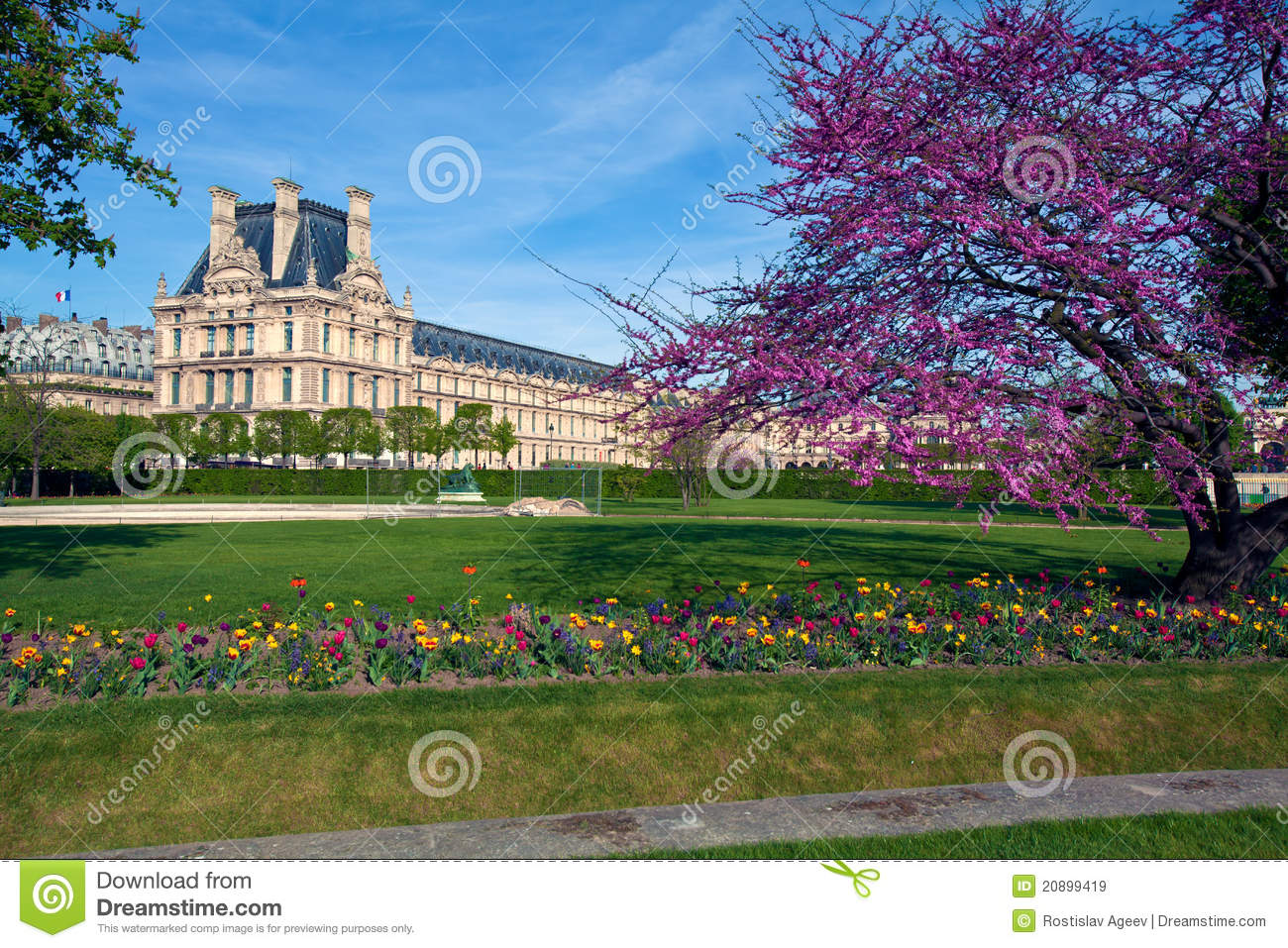 Jardin des tuileries the tuileries garden pari stock for Jardin tuileries