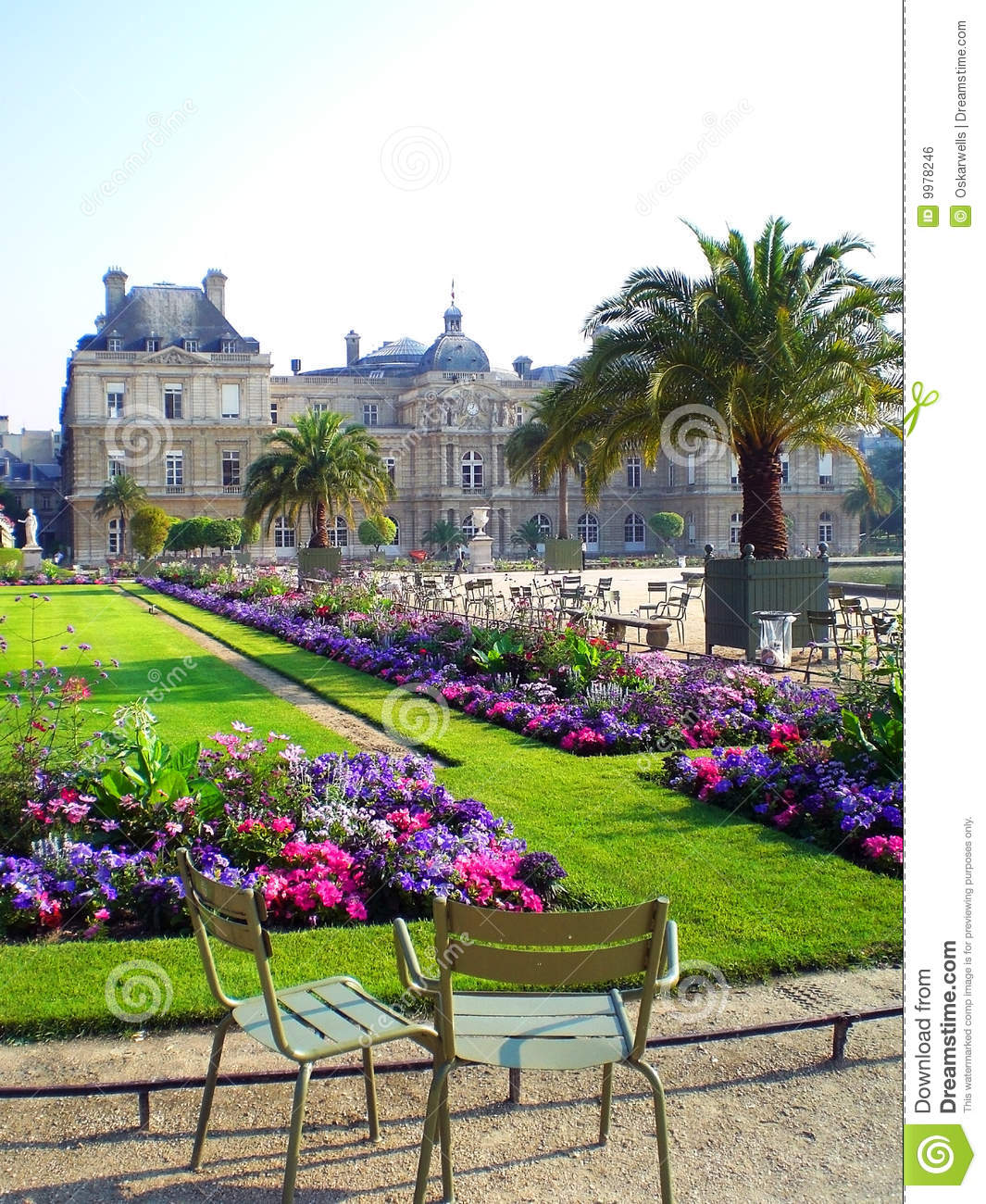 Jardin du luxembourg paris royalty free stock image for Cafe jardin du luxembourg