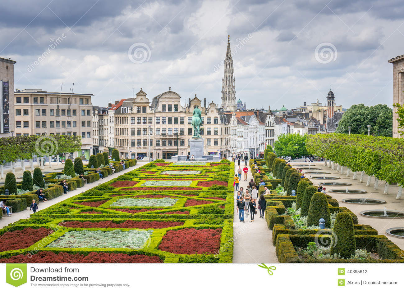 Jardin du mont des arts brussels editorial photography image of benelux architecture 40895612 - Les jardins des monts d or ...