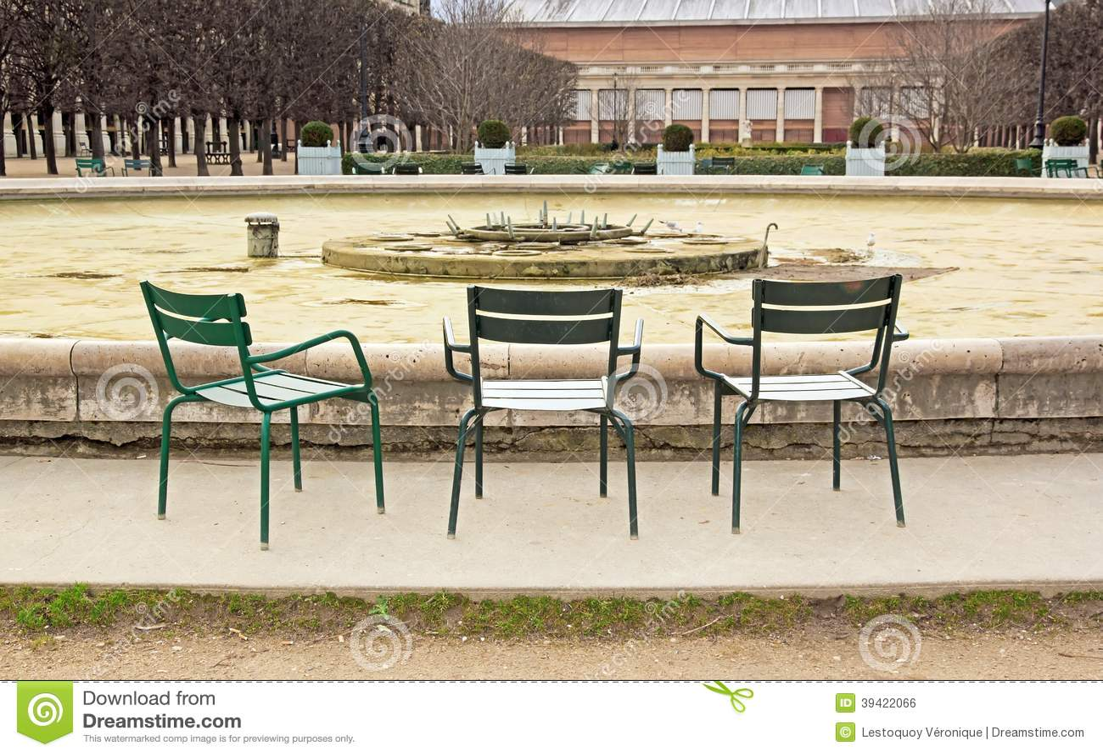 Jardin Du Palais Royal In Winter Paris France Stock Photo Image