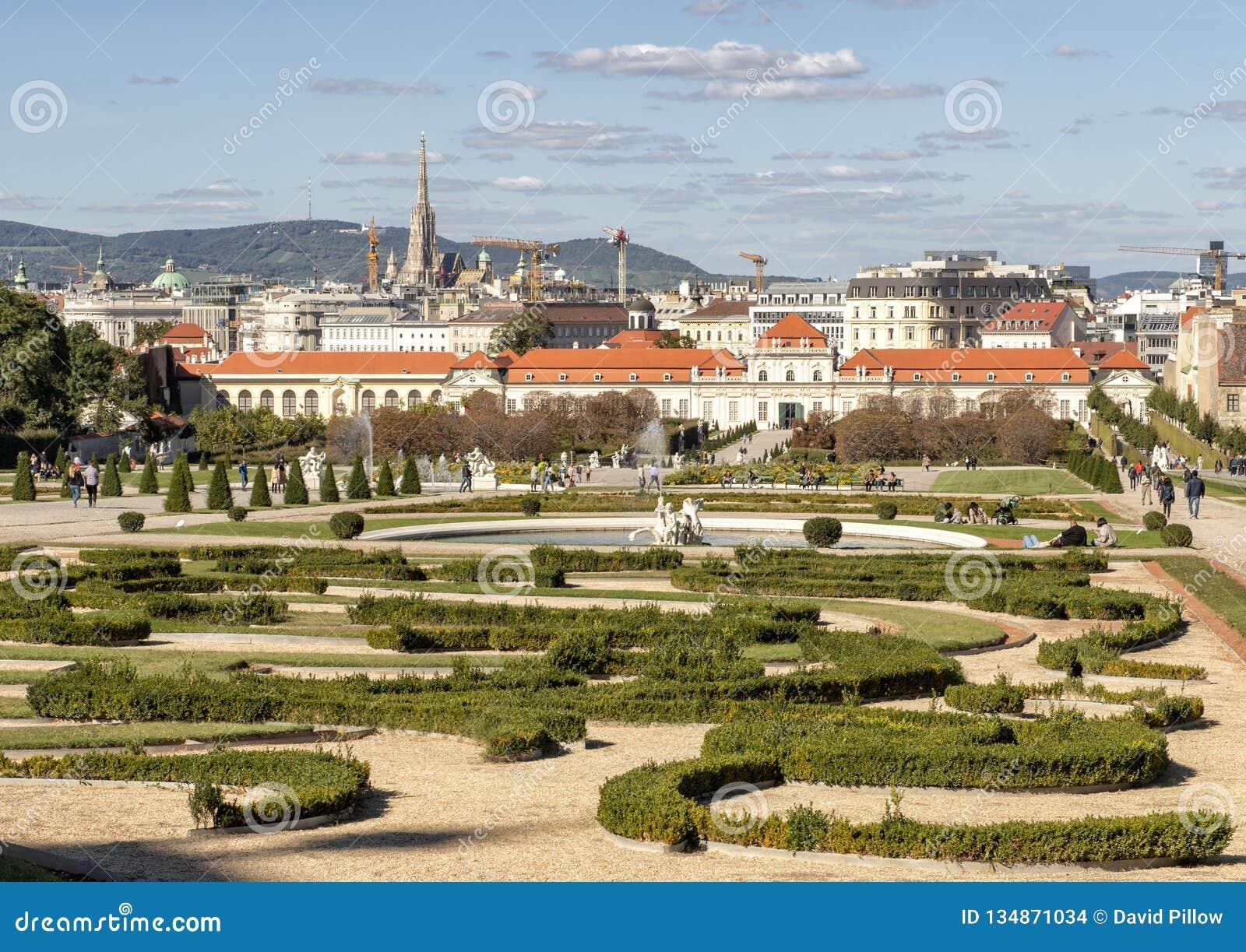 Jardin et palais inférieur de belvédère, Vienne, Autriche