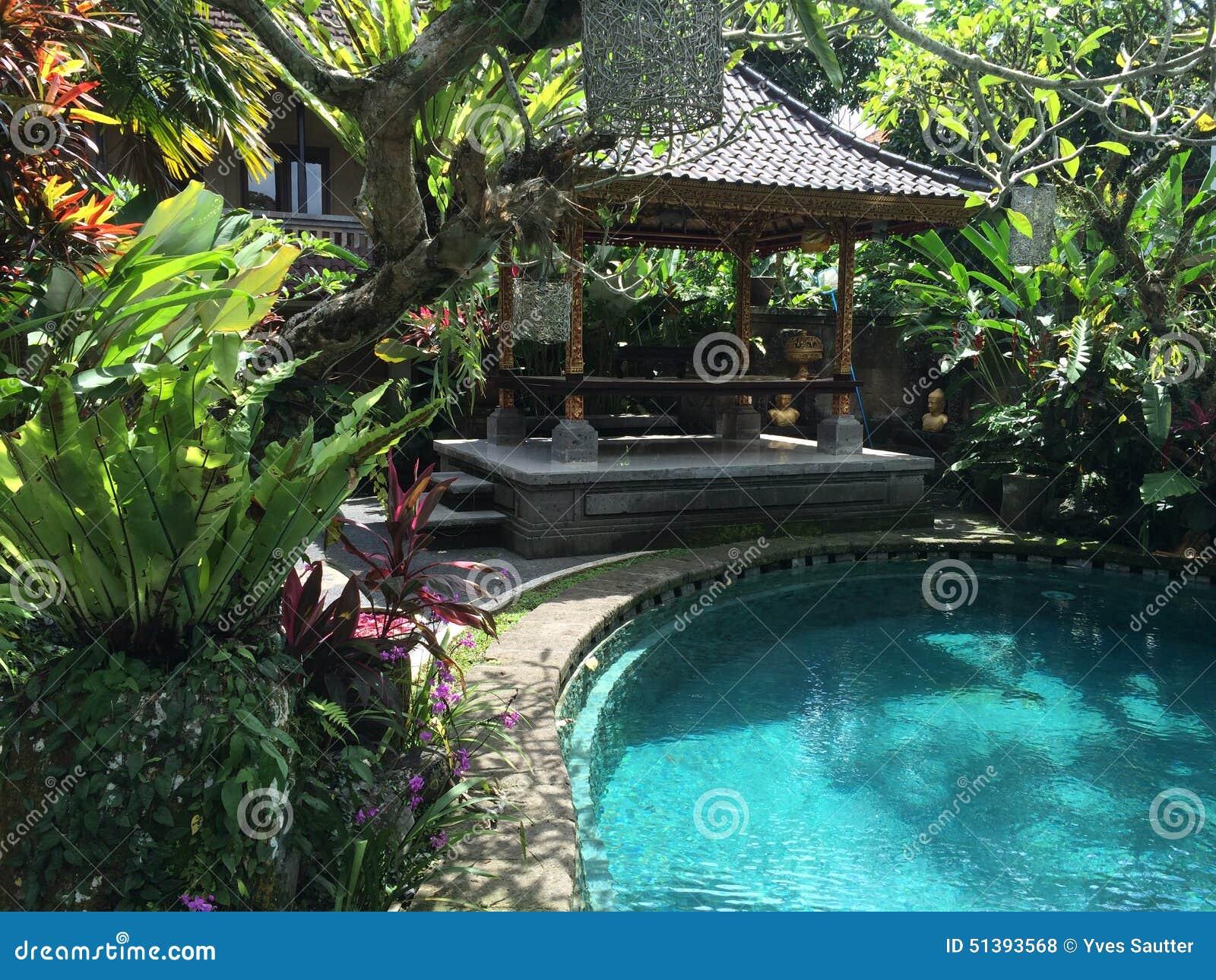Jardin et piscine de balinese dans ubud bali indon sie for Les jardins de bali