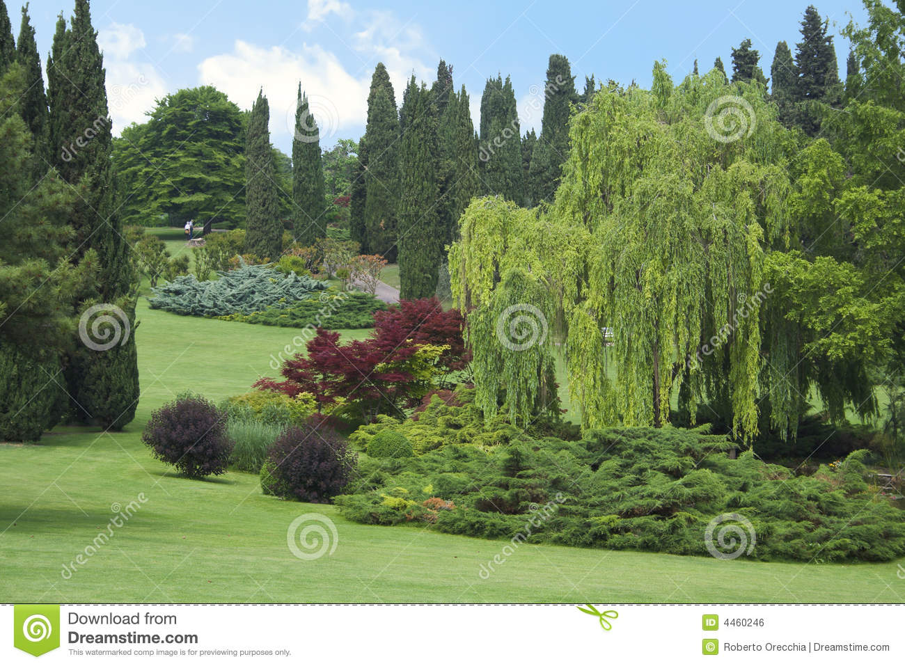 Jardin italien photo stock image du horizontal centrale for Jardin italien