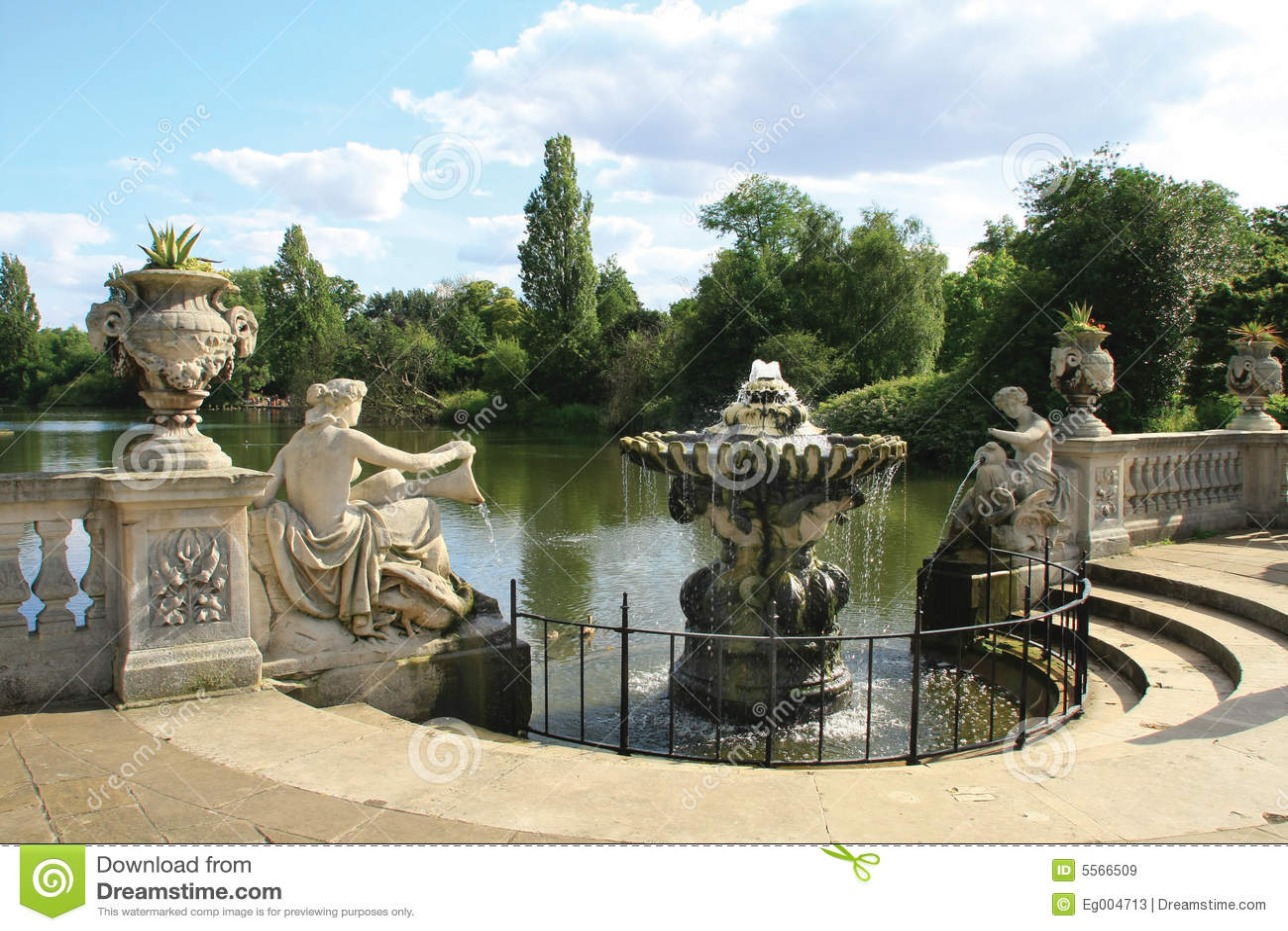Jardin italien aux jardins de kensington image stock for Jardines de kensington